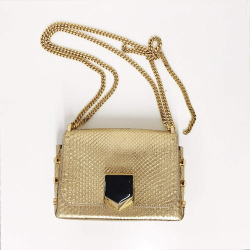 Jimmy Choo Python Lockett Crossbody Bag