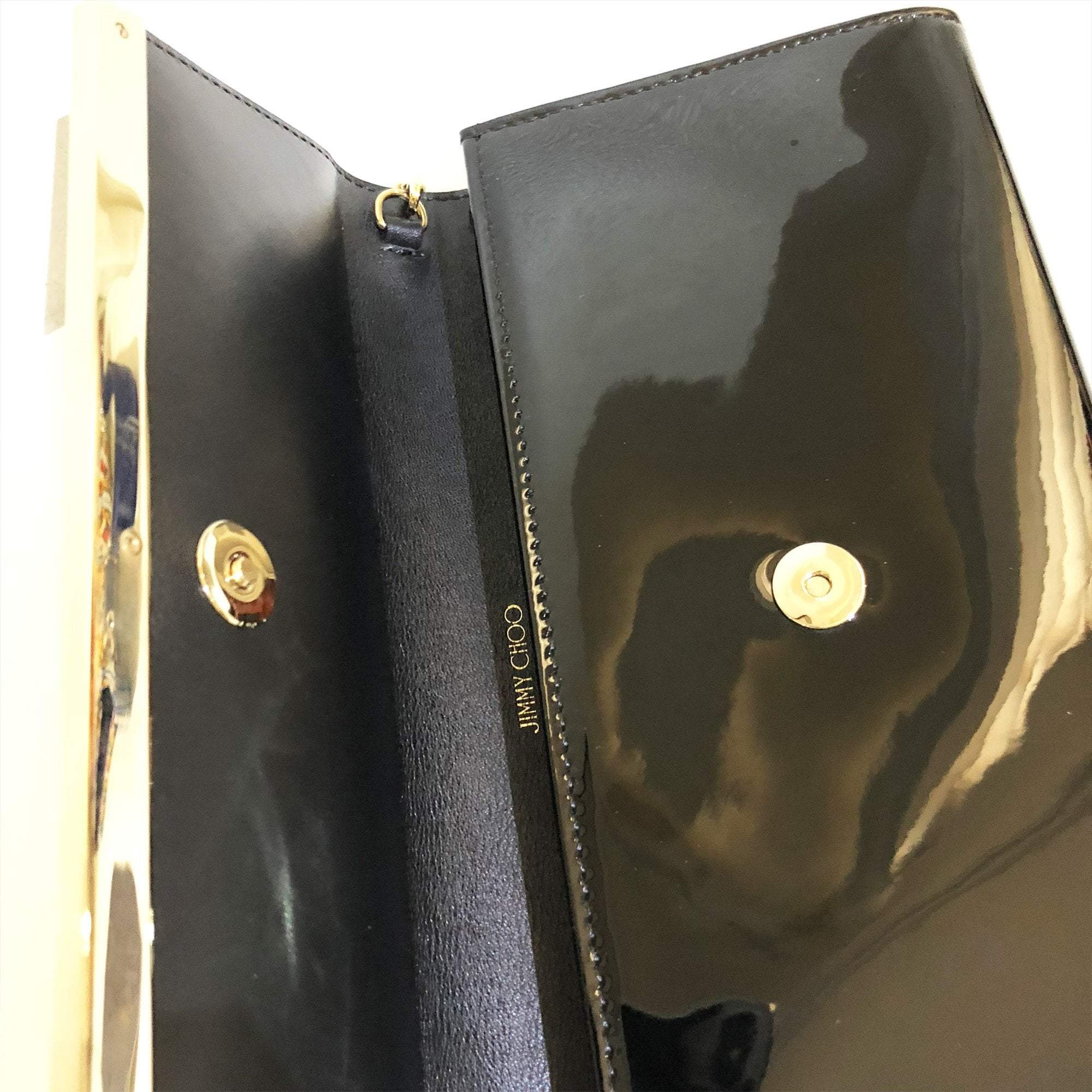 Jimmy Choo Margot patent-leather clutch