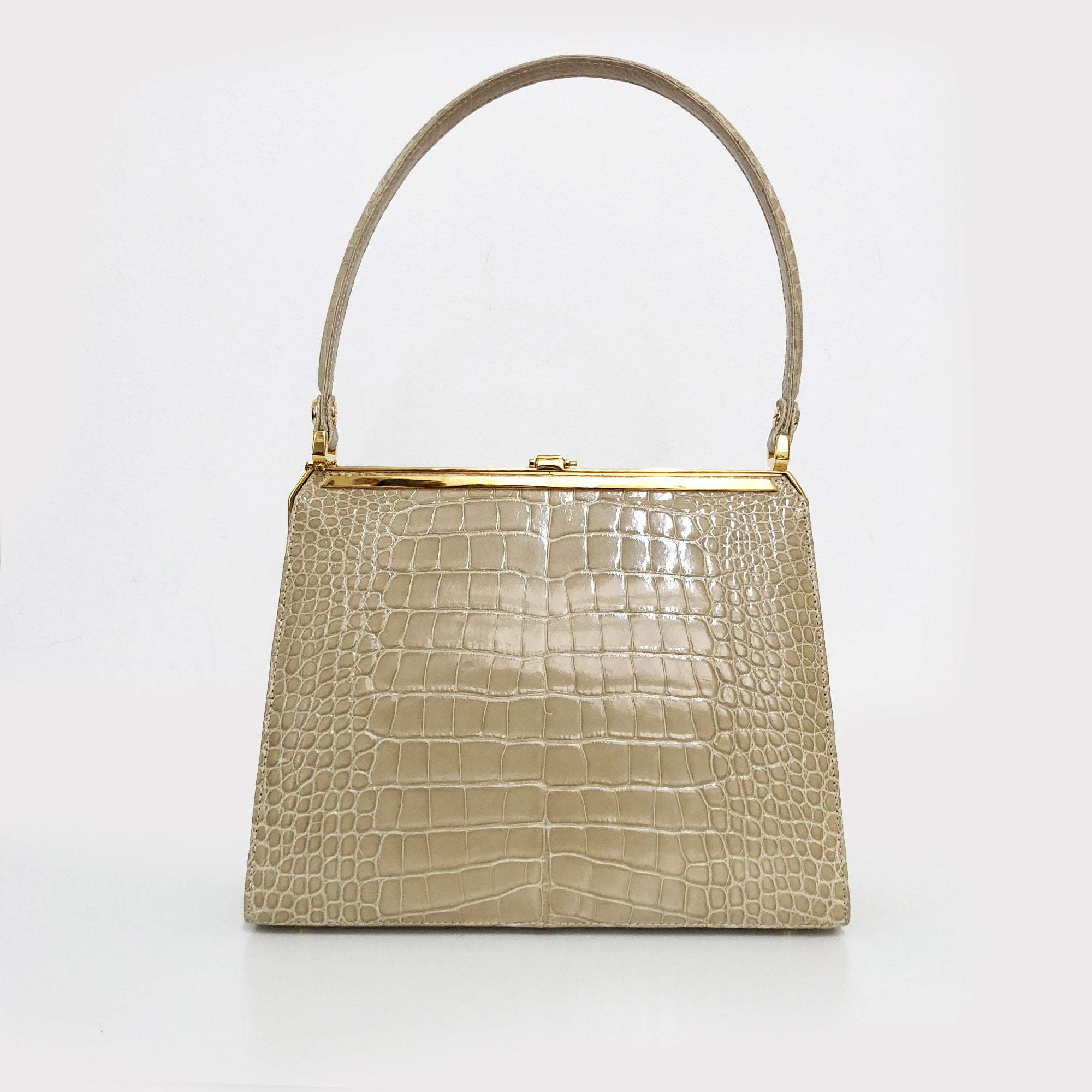 Kwanpen Khaki Alligator Handbag