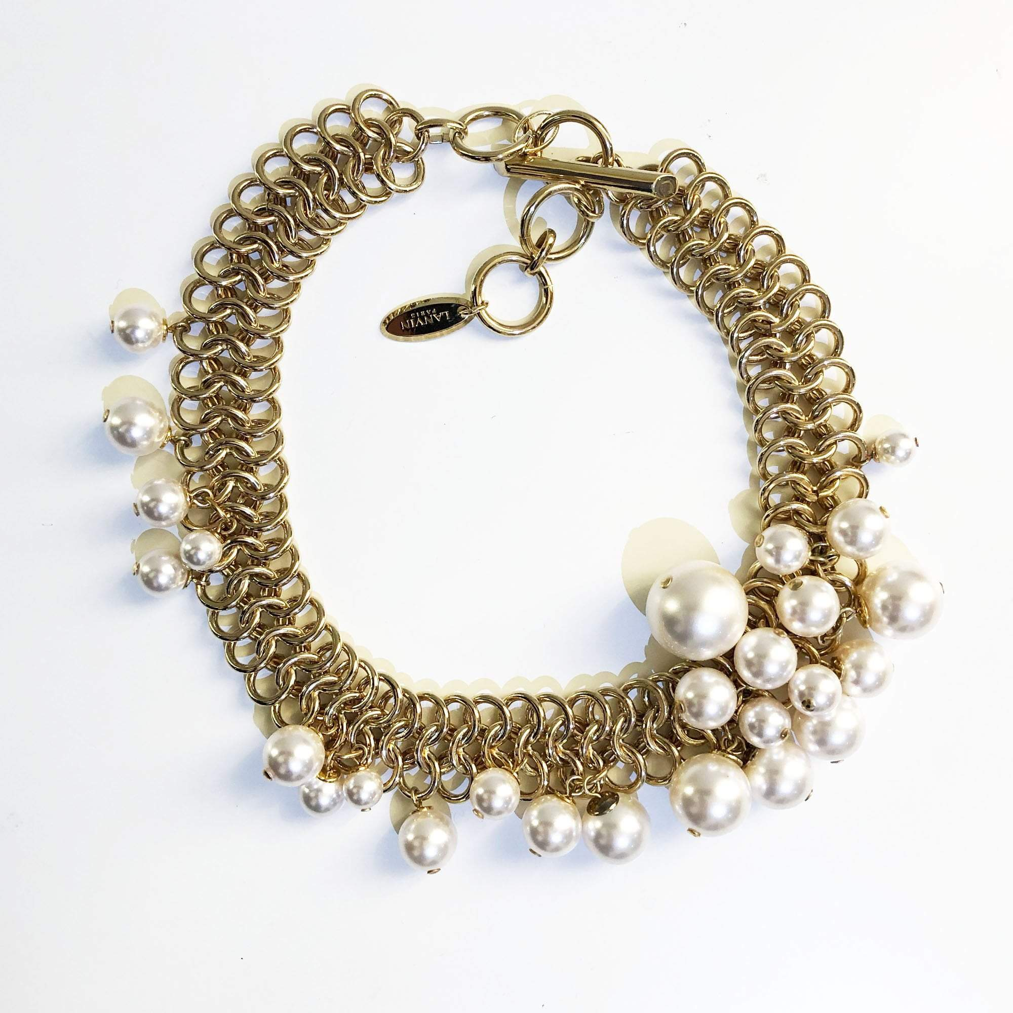 Lanvin Pearl and Gold-tone Necklace