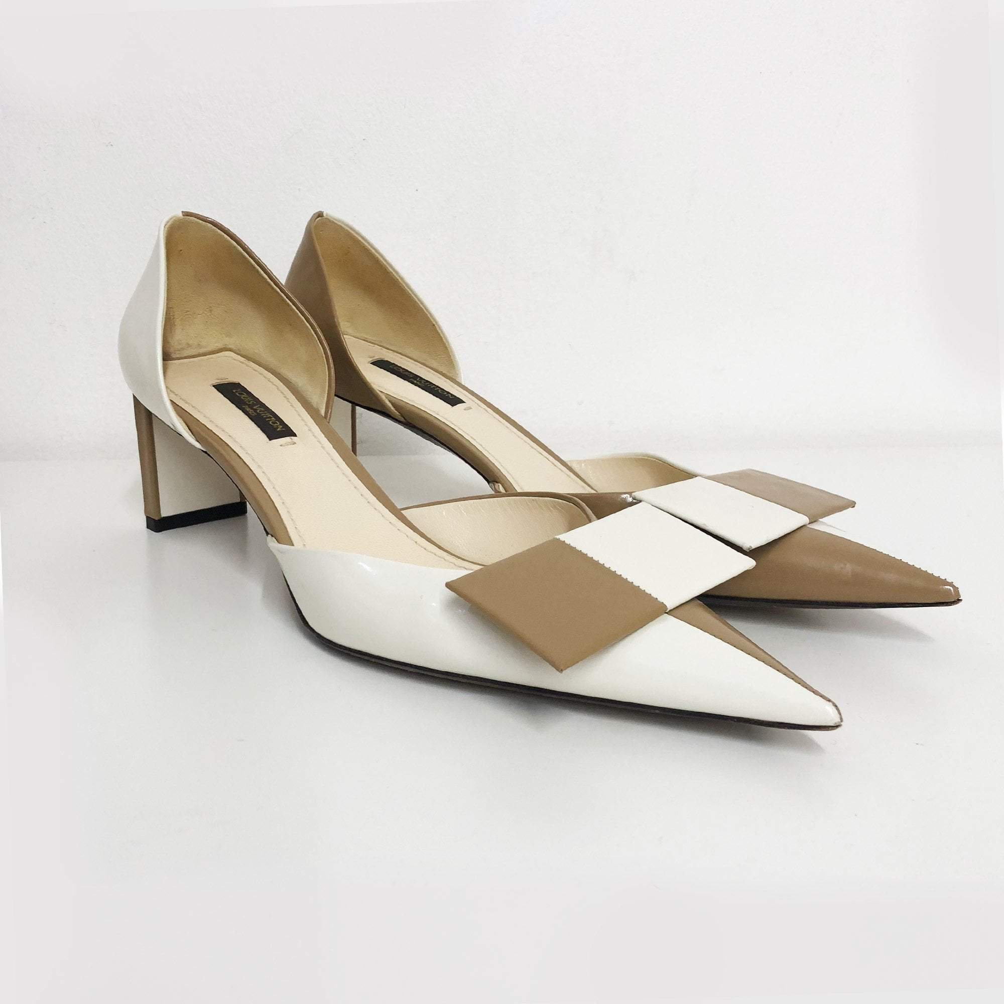 Louis Vuitton Bicolor Pointed-Toe D'orsay Pumps