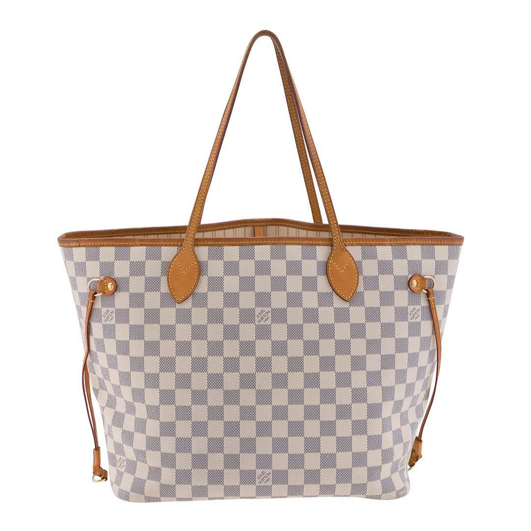 Louis Vuitton Damier Azur Neverfull MM Tote Bag