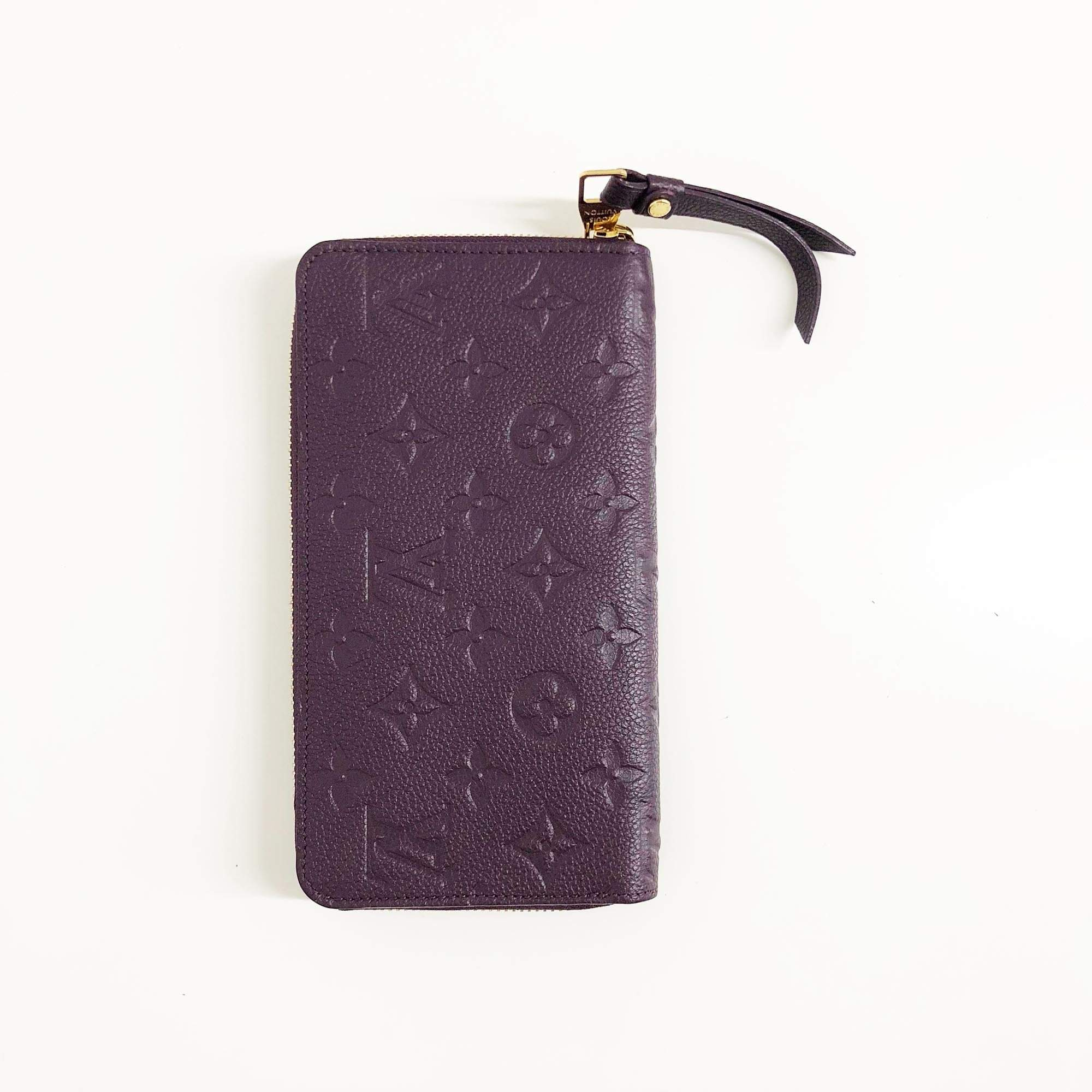Louis Vuitton Empreinte Clemence Burgundy Wallet