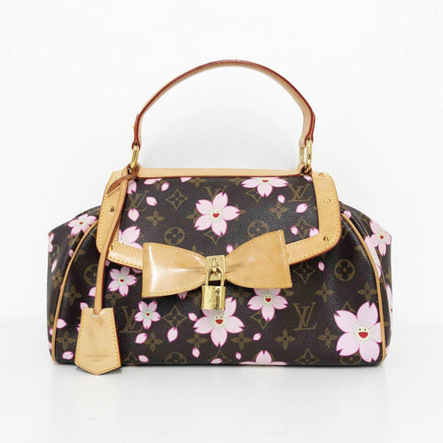 Louis Vuitton Limited Edition Murakami Black Cherry Blossom Sac Retro Satchel