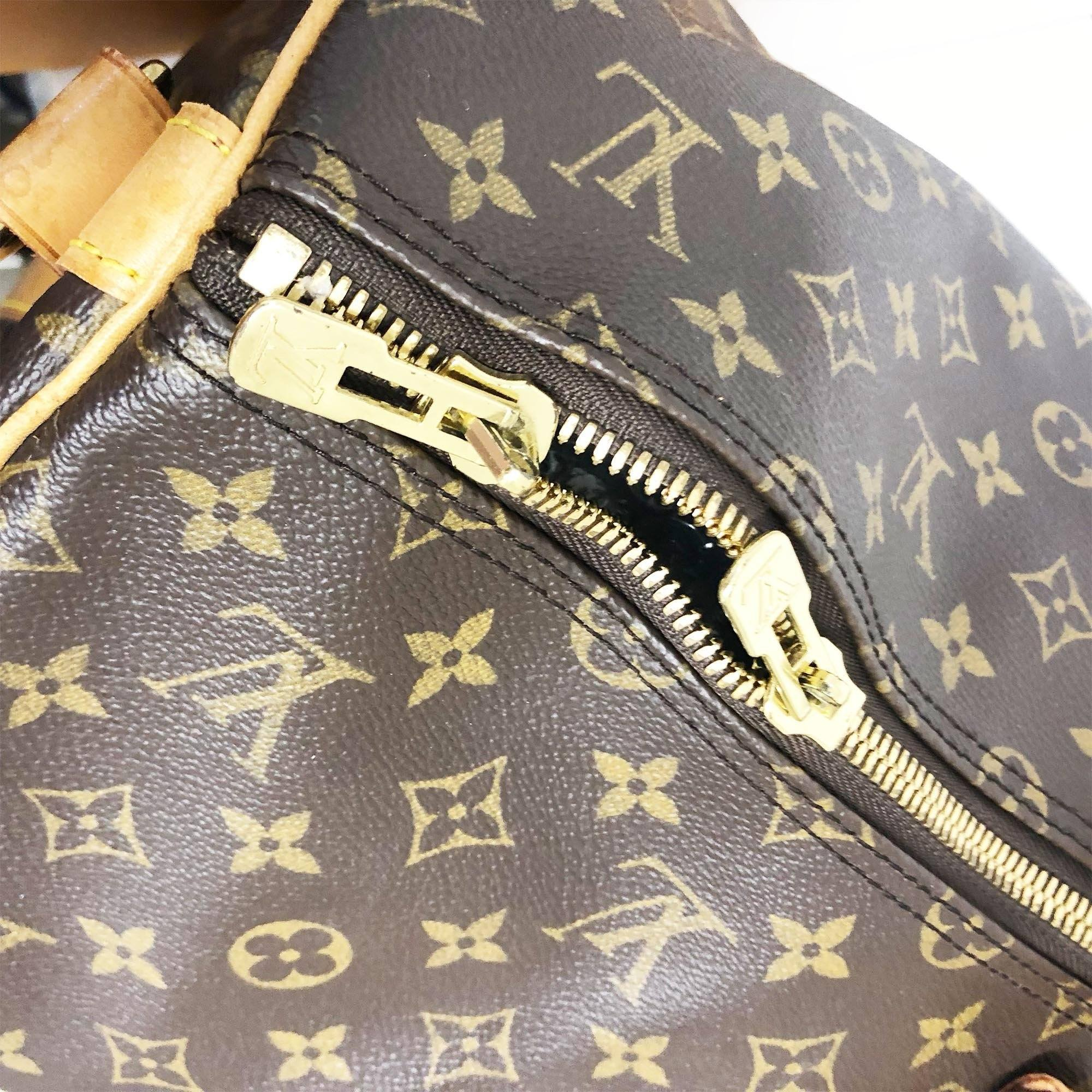Louis Vuitton Monogram Keepall Bandouliere 55 Travel Bag