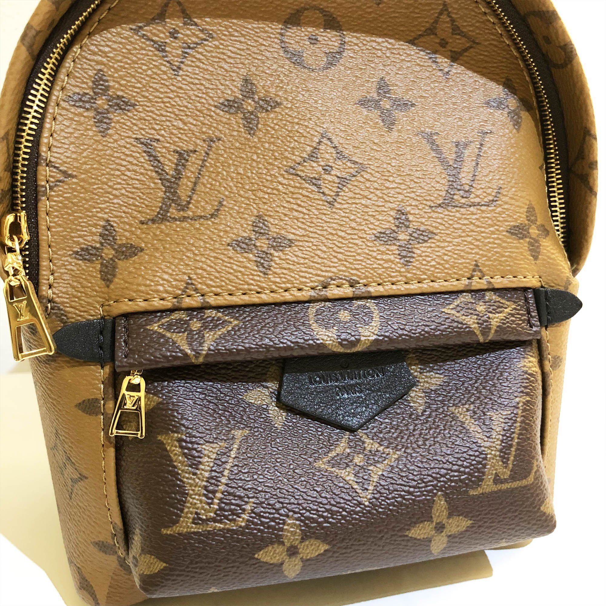 7a815747af3c Louis Vuitton Monogram Reverse Canvas Palm Springs Backpack Mini ...