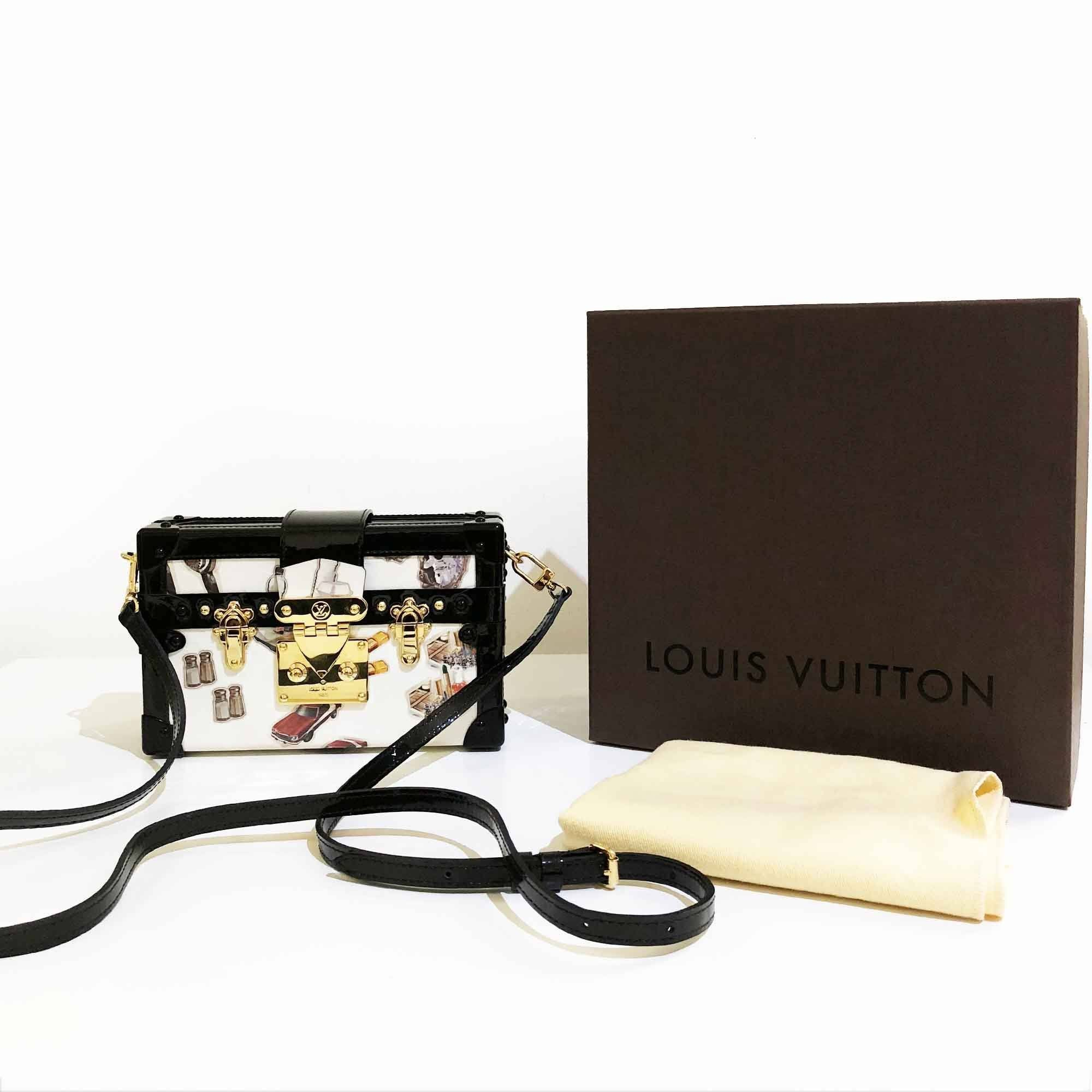 Louis Vuitton Petite Malle Ltd Edition Stickers Monogram Vernis