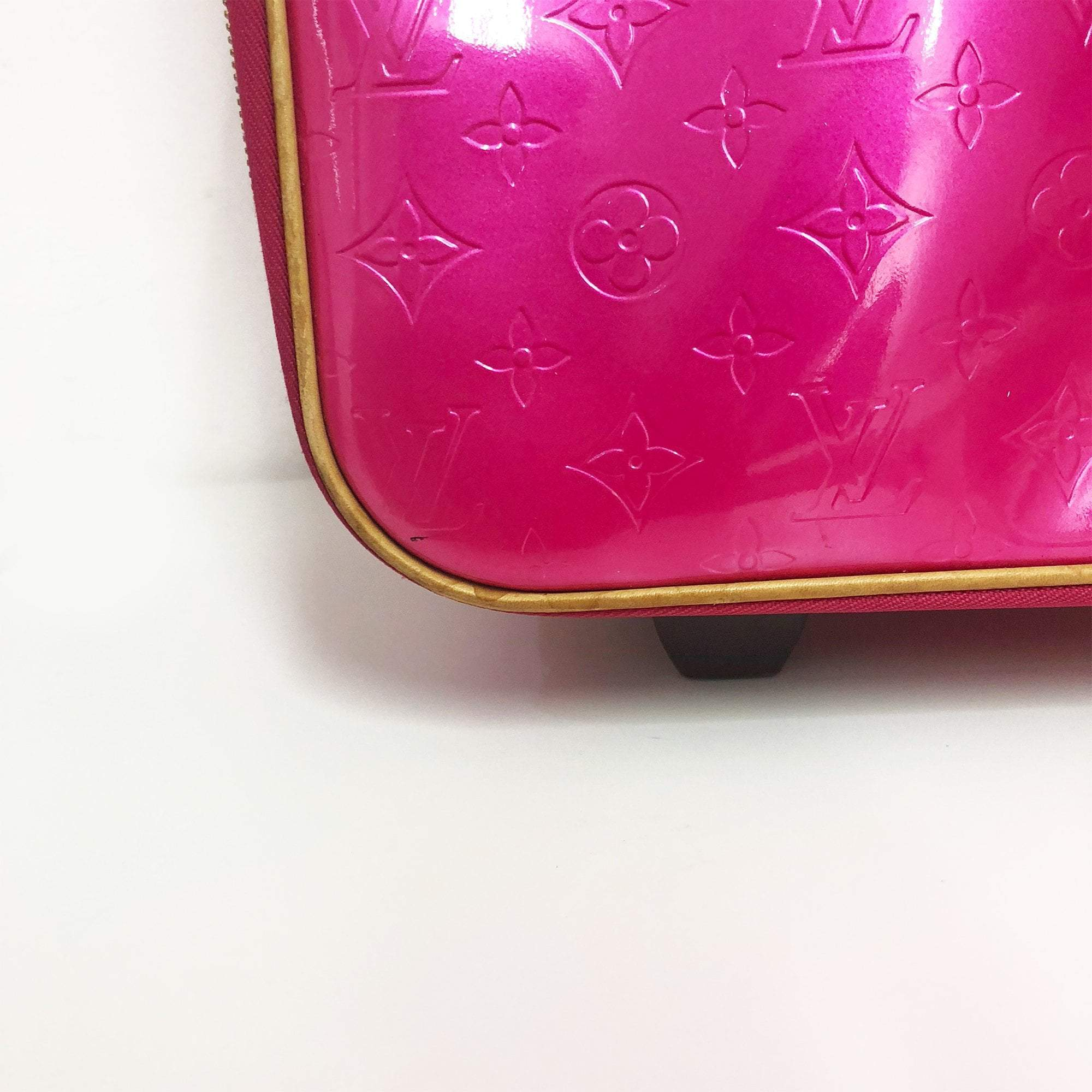 Louis Vuitton Pink Vernis Pegase 55 Luggage