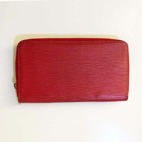 Louis Vuitton Red Epi Leather Zippy Long Wallet
