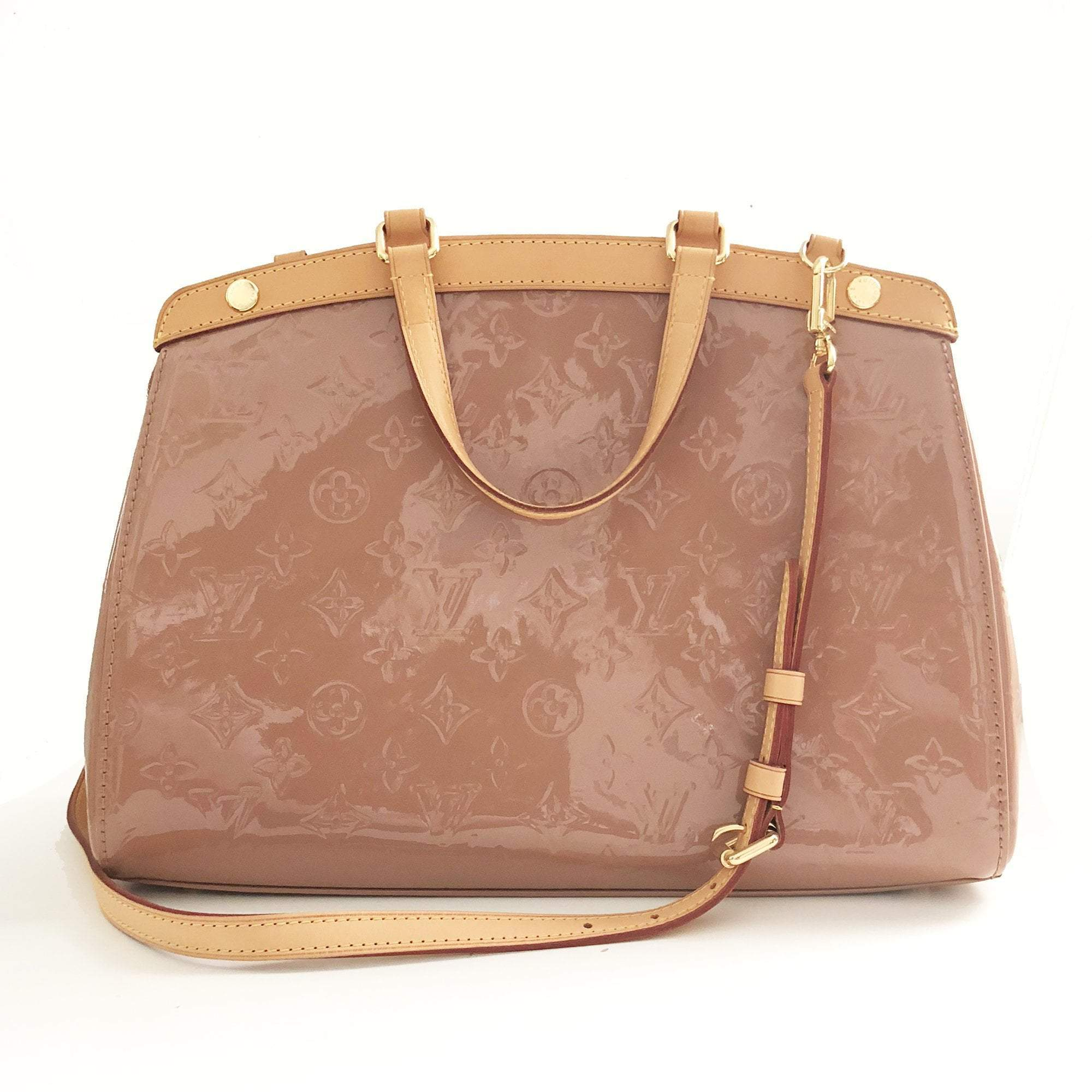 Louis Vuitton Rose Florentine Monogram Vernis Brea Bag