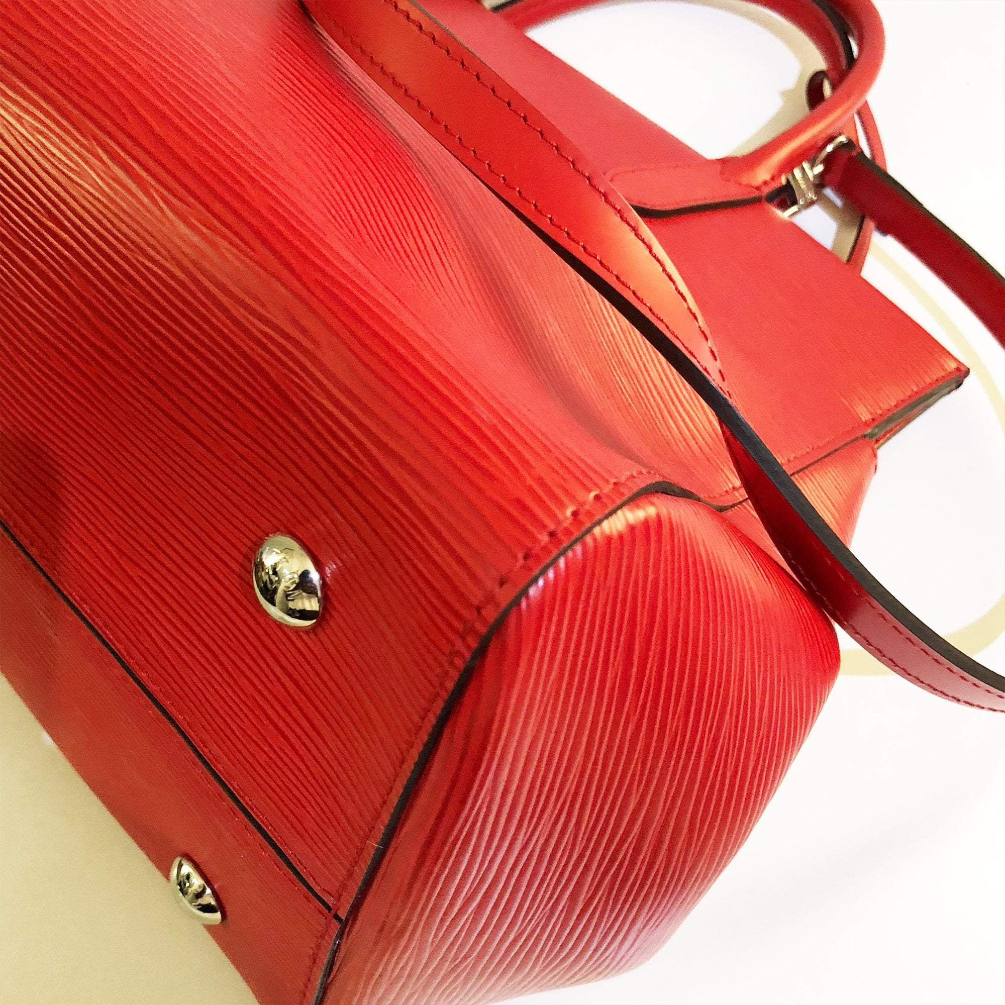Louis Vuitton Red Epi Leather Marly MM Handbag
