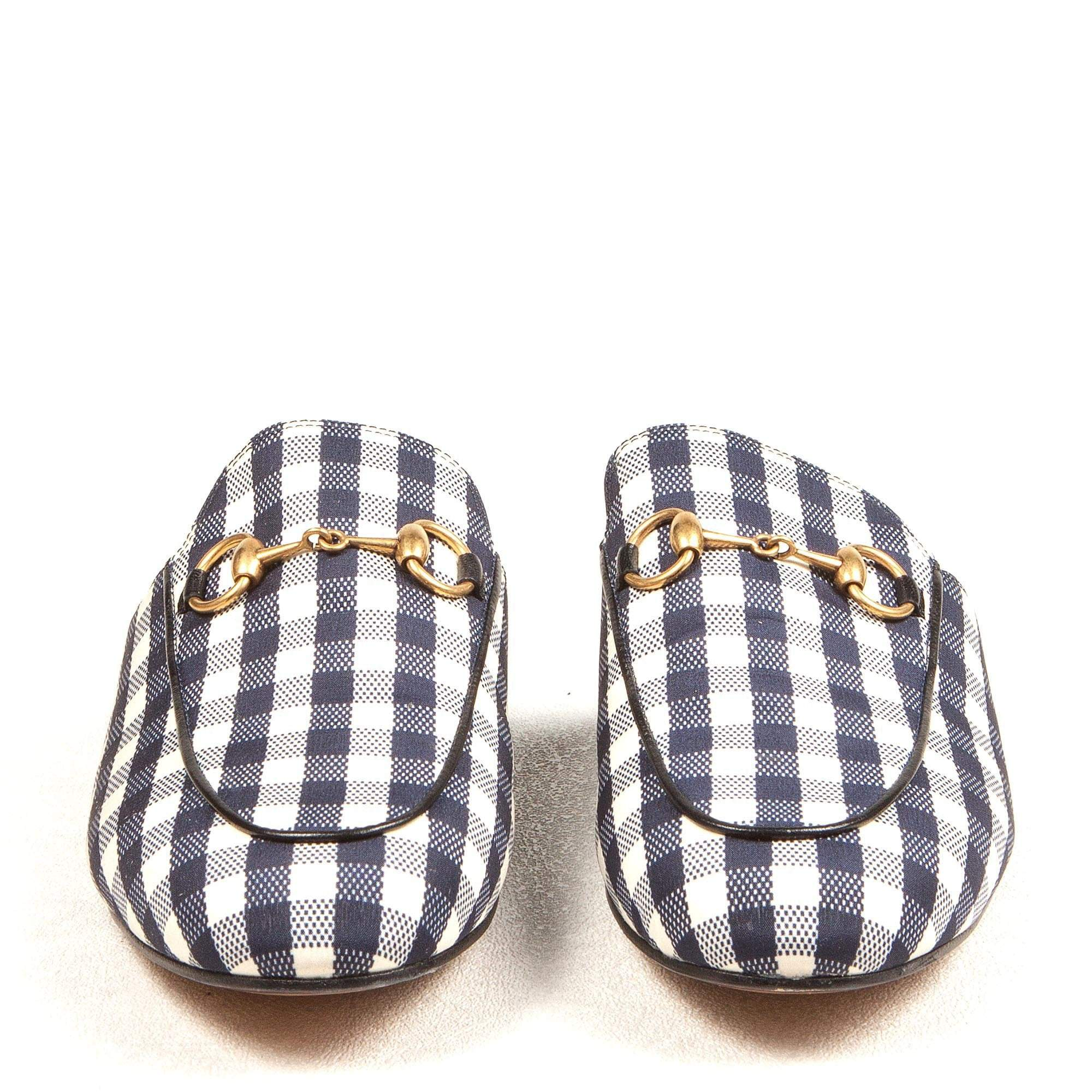 Princetown Gingham Backless Slippers