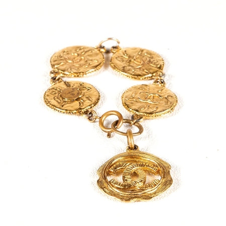 Chanel Vintage Bracelet with CC Coins