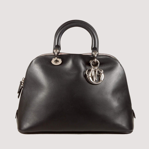 Christian Dior Black Calfskin Leather Diorissimo Bag