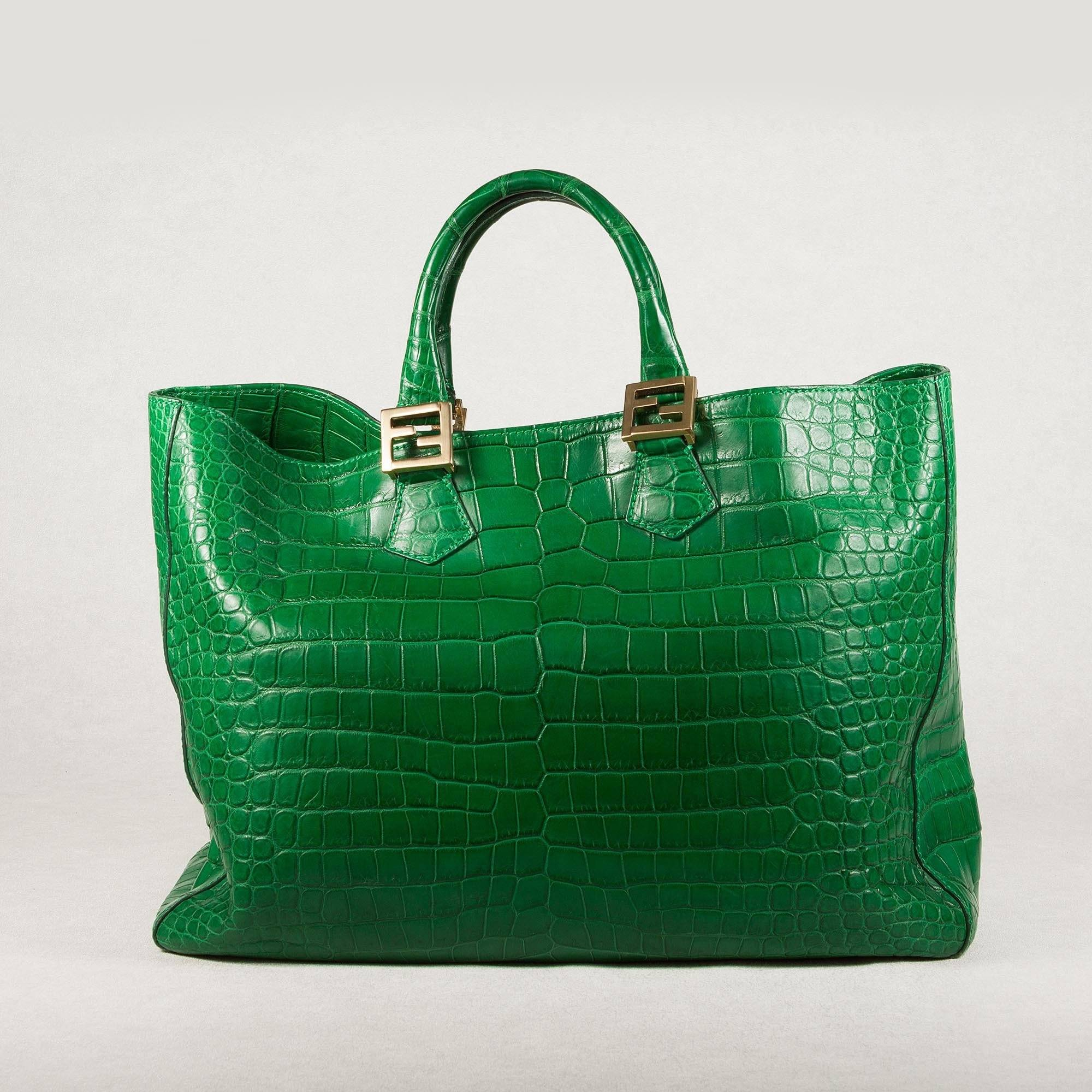 0f37ed879513 Fendi Crocodile Bag Green | Stanford Center for Opportunity Policy ...