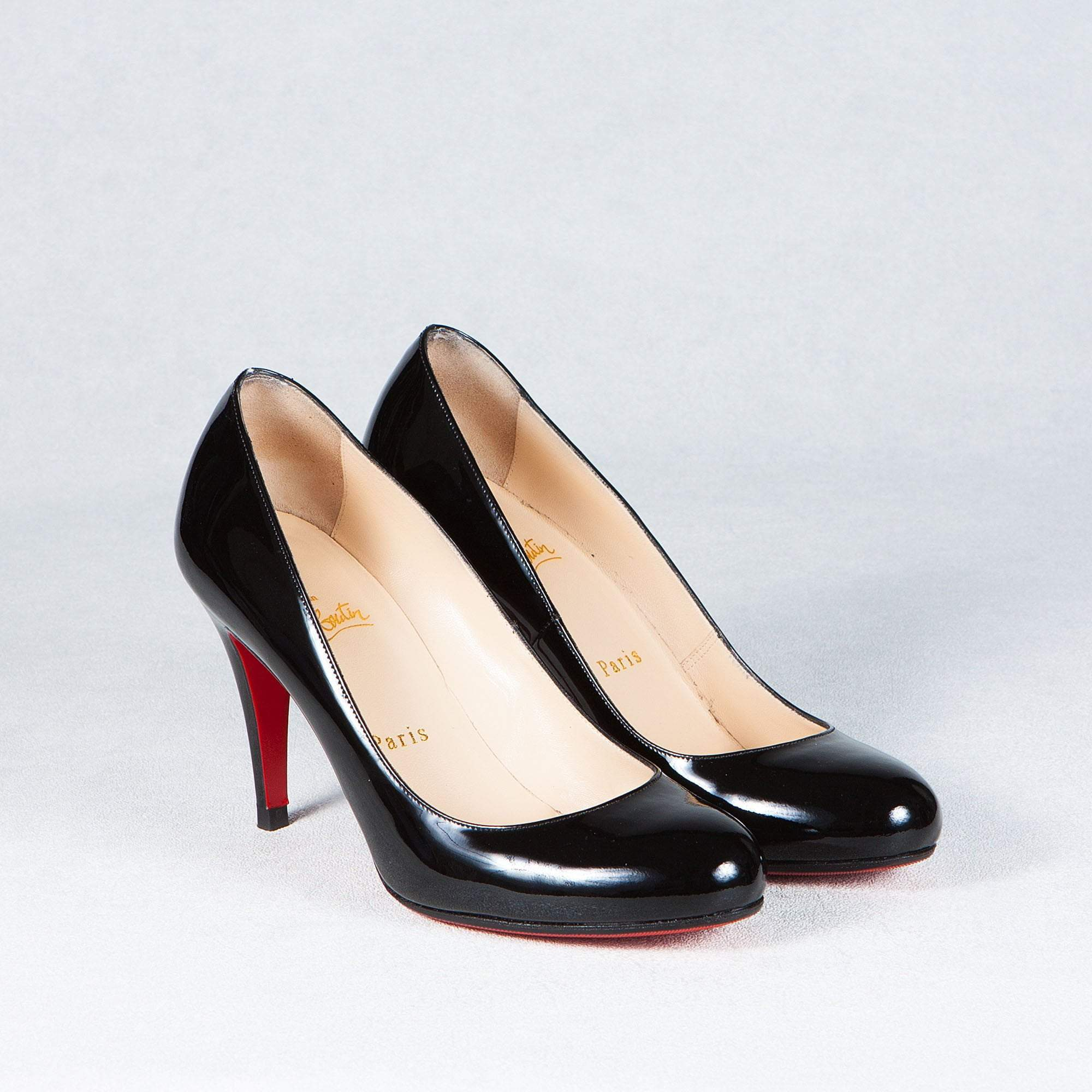 Christian Louboutin Black Round Toe Pumps