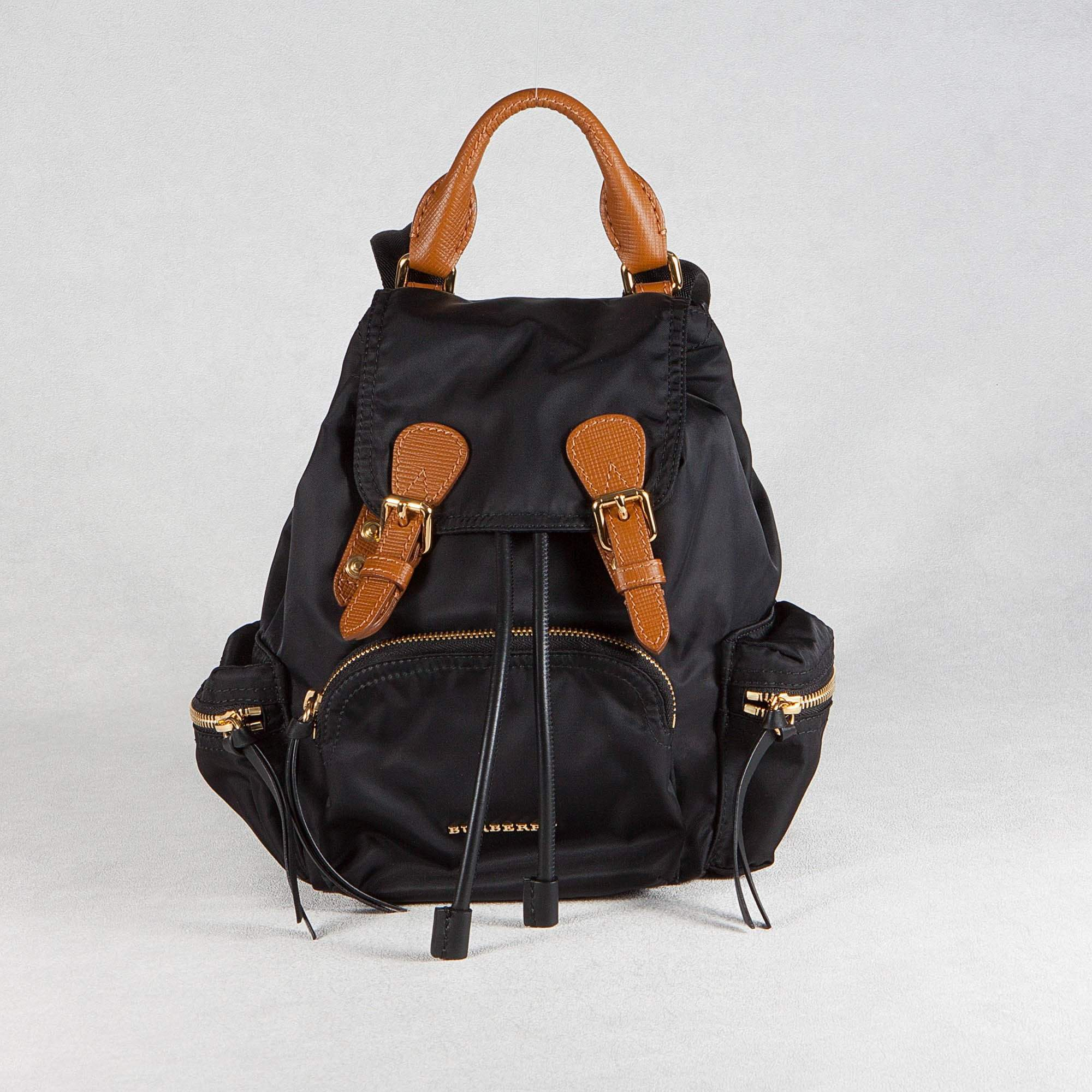Burberry Nylon and leather small backpack