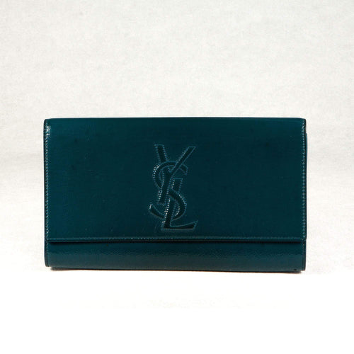 Saint Laurent Sac Dejour Green Clutch