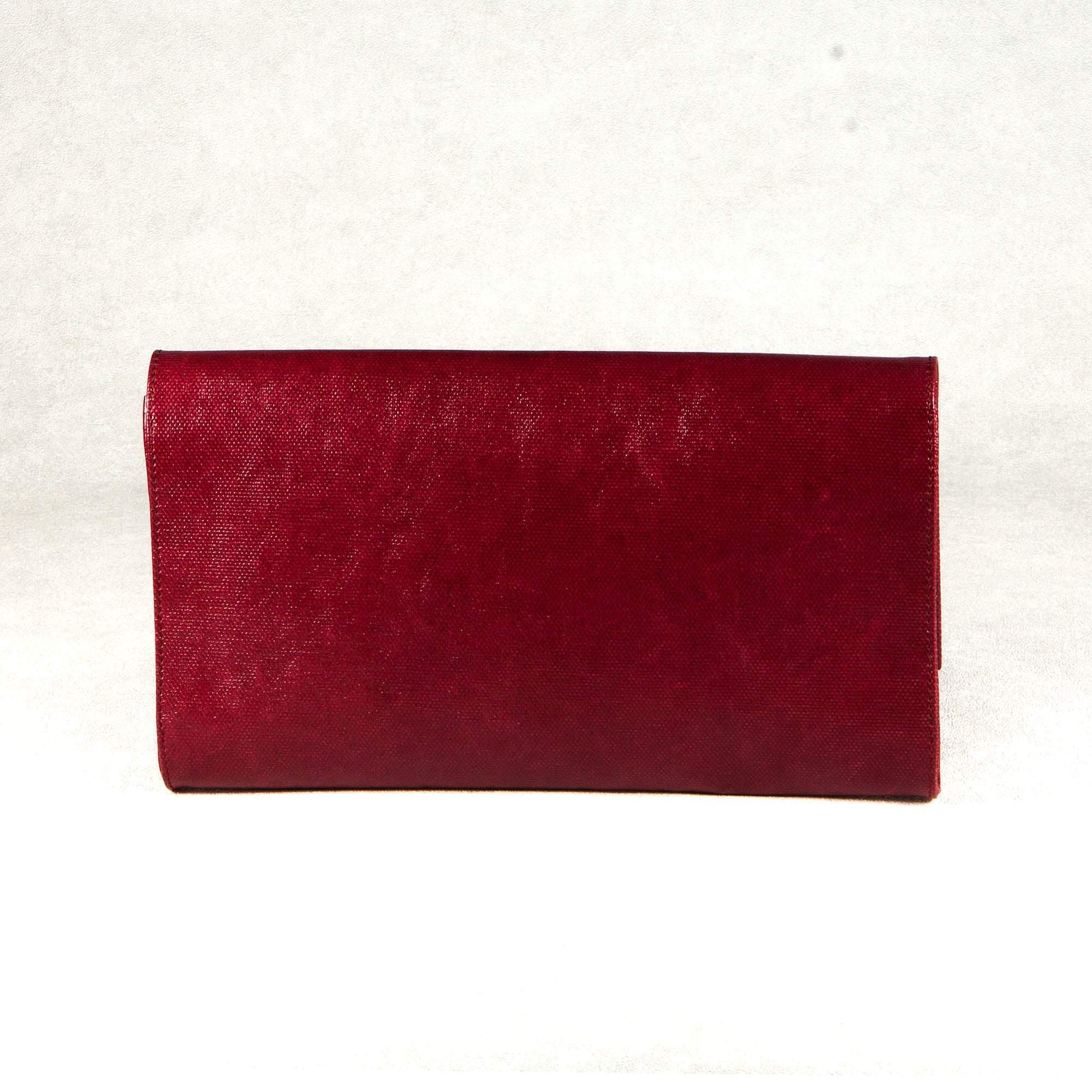 Saint Laurent Sac De Jour Burgundy Clutch
