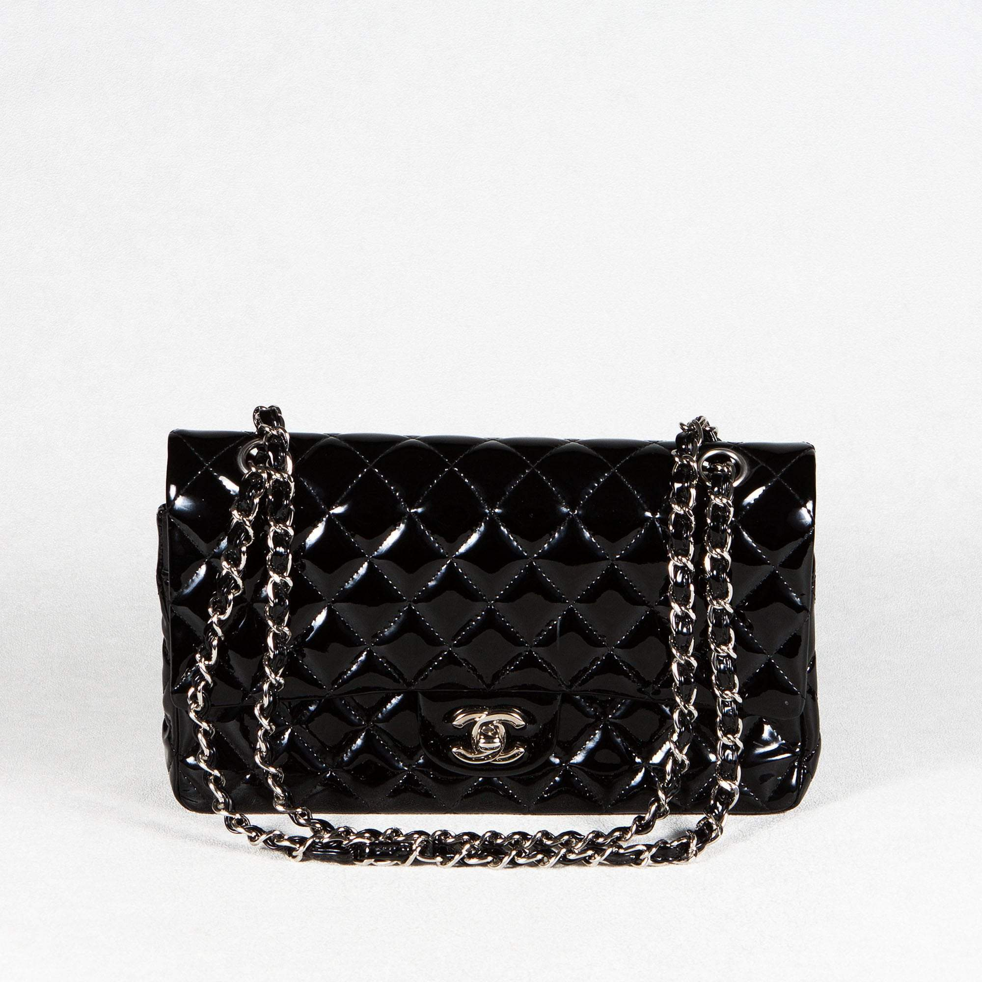 Chanel Patent Leather Medium Double Flap Bag