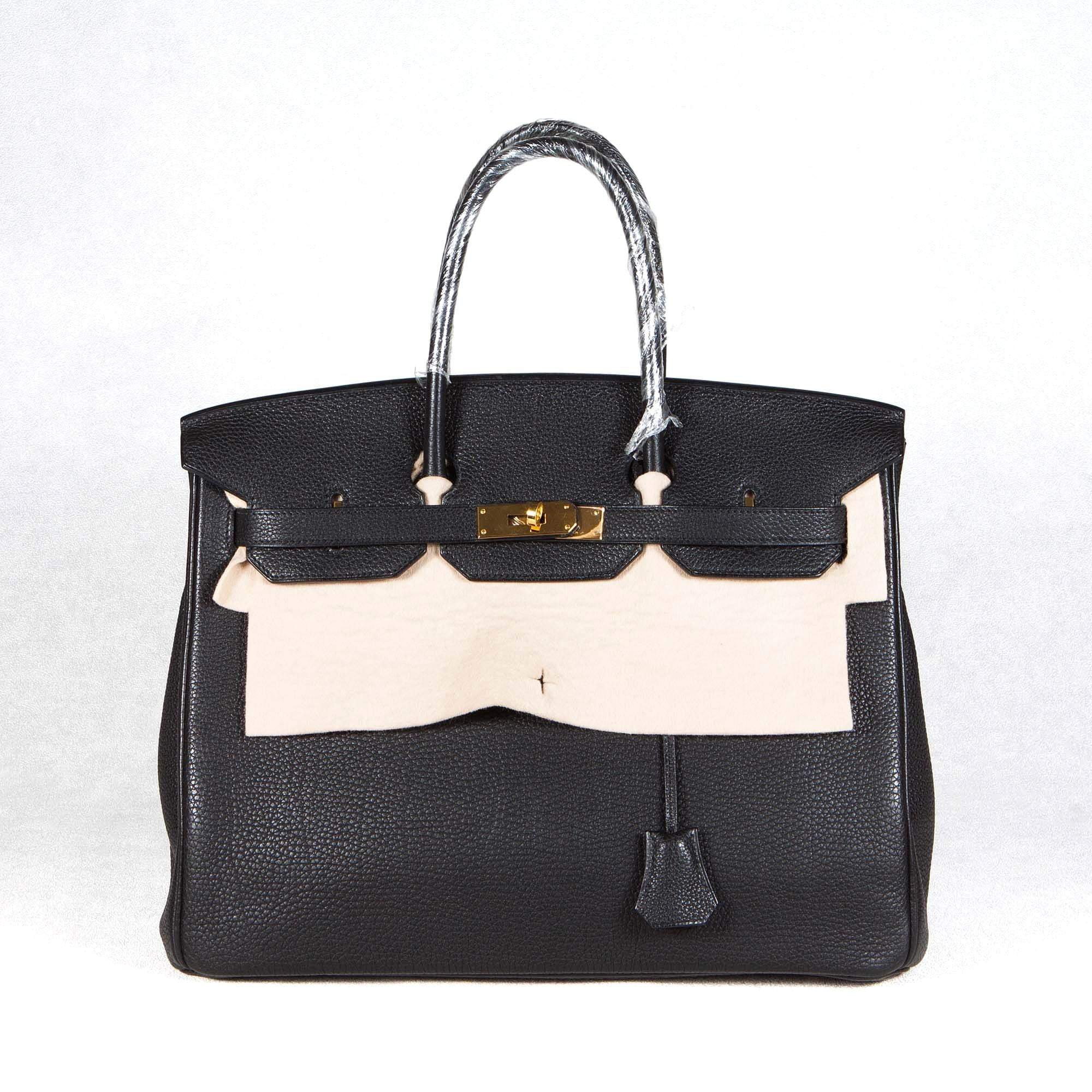 Hermes  Birkin 35 Black Togo Leather Bag