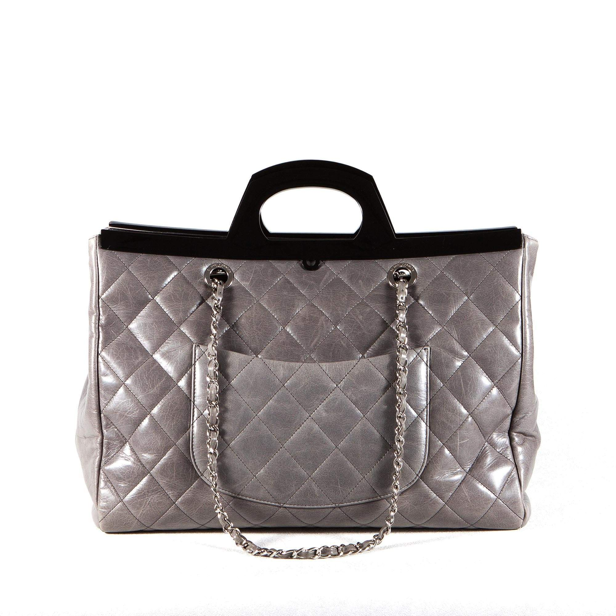 Chanel Large Quilted Top Handle Bag
