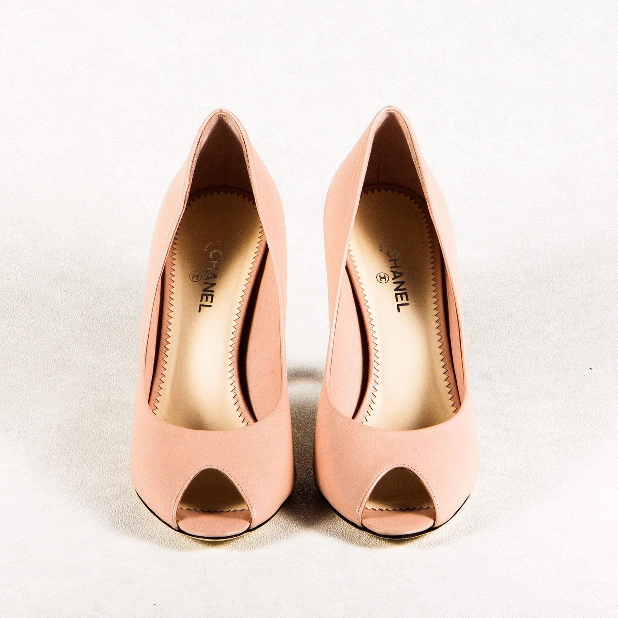 Chanel Peep Toe Pumps