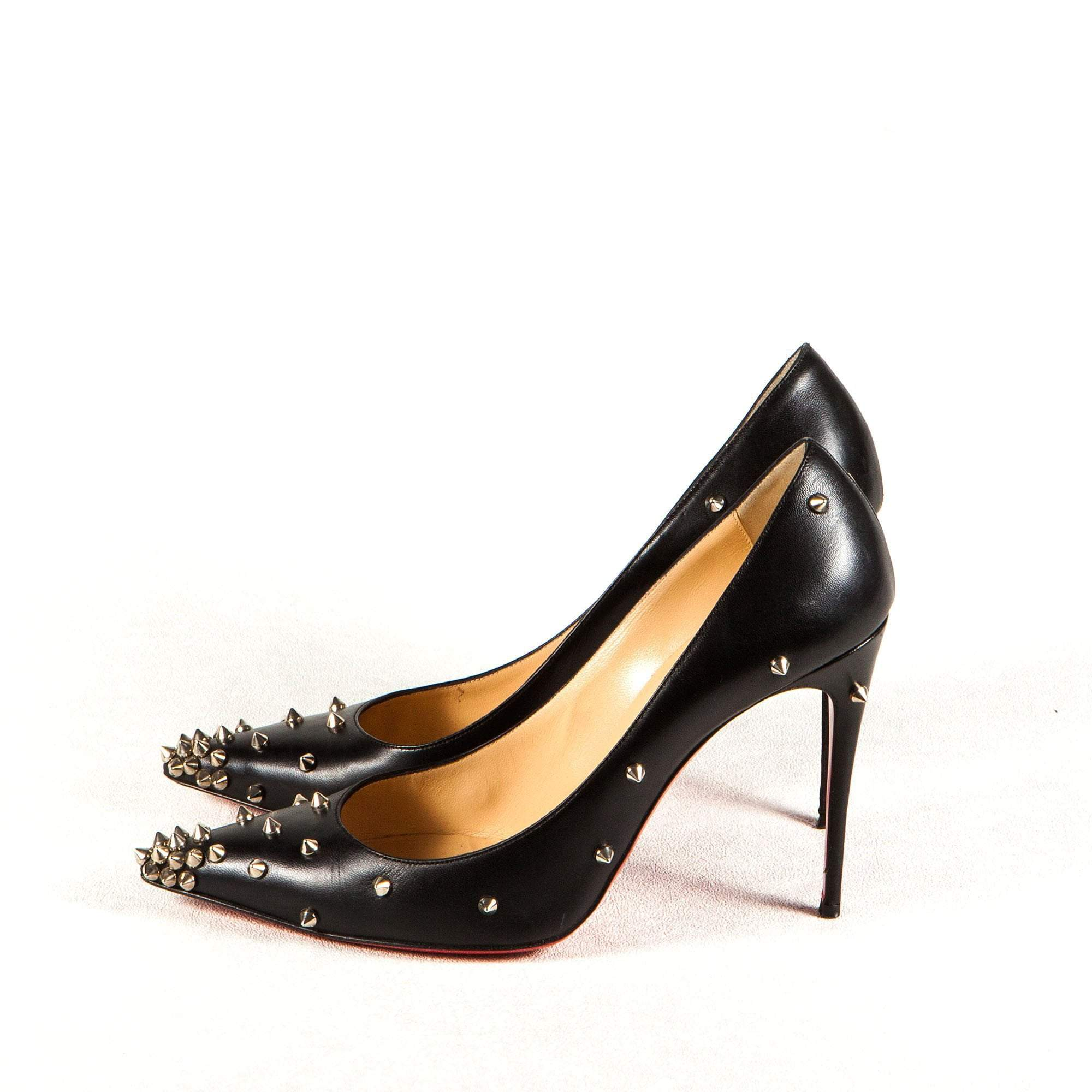 Christian Louboutin Black Studded Pumps