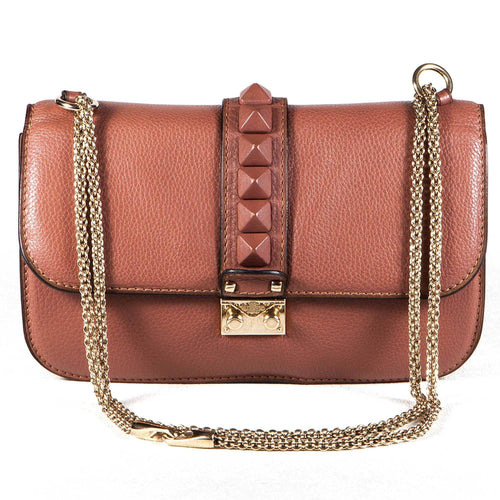 Valentino Lock Small Rockstud Shoulder Bag