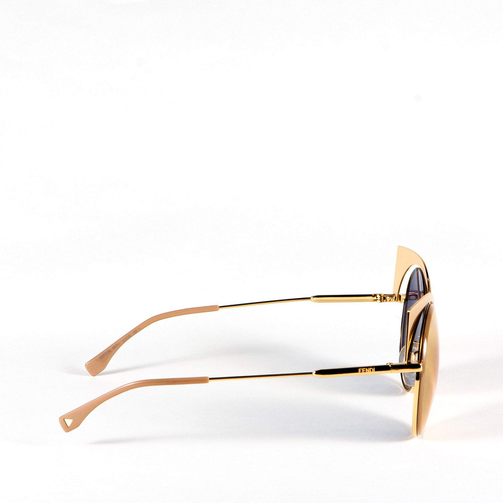 Fendi Gold-Tone 0177 Sunglasses