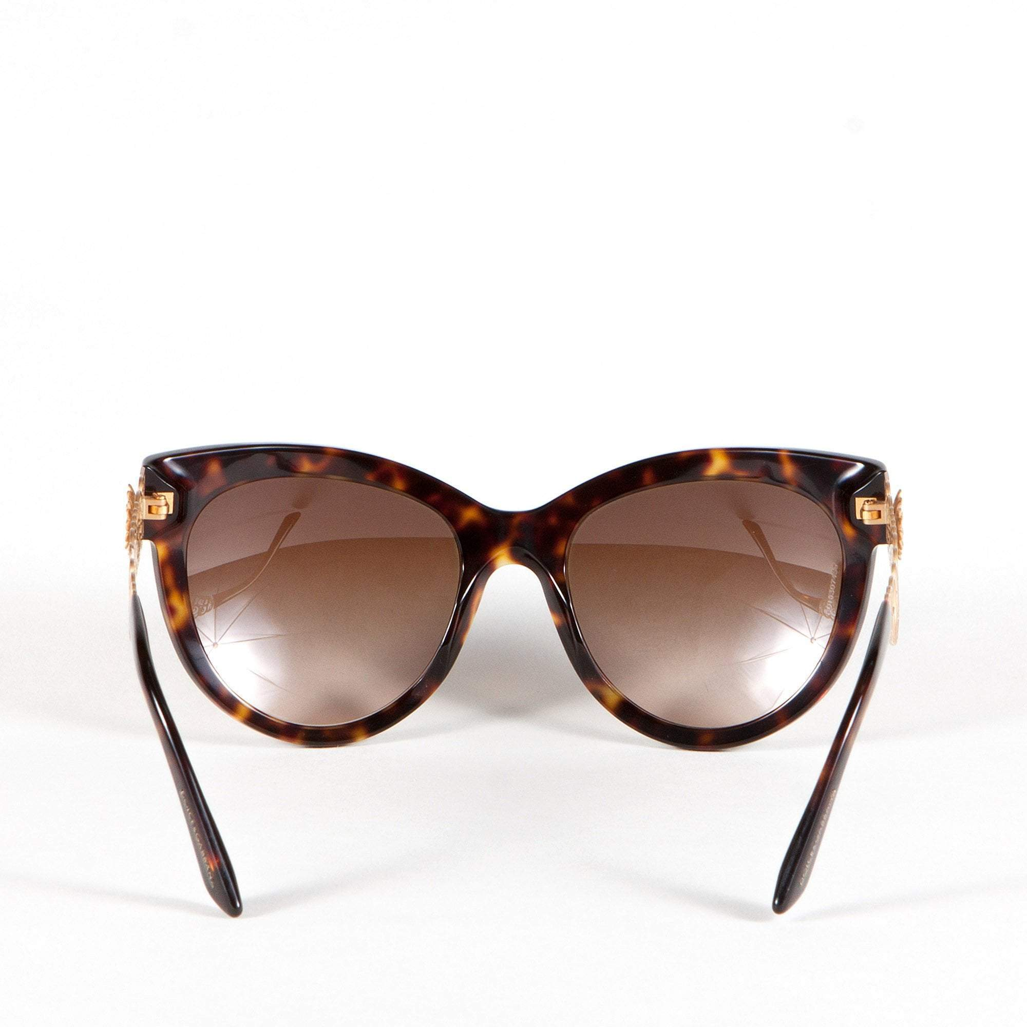 Dolce and Gabbana Havana Filigree Sunglasses