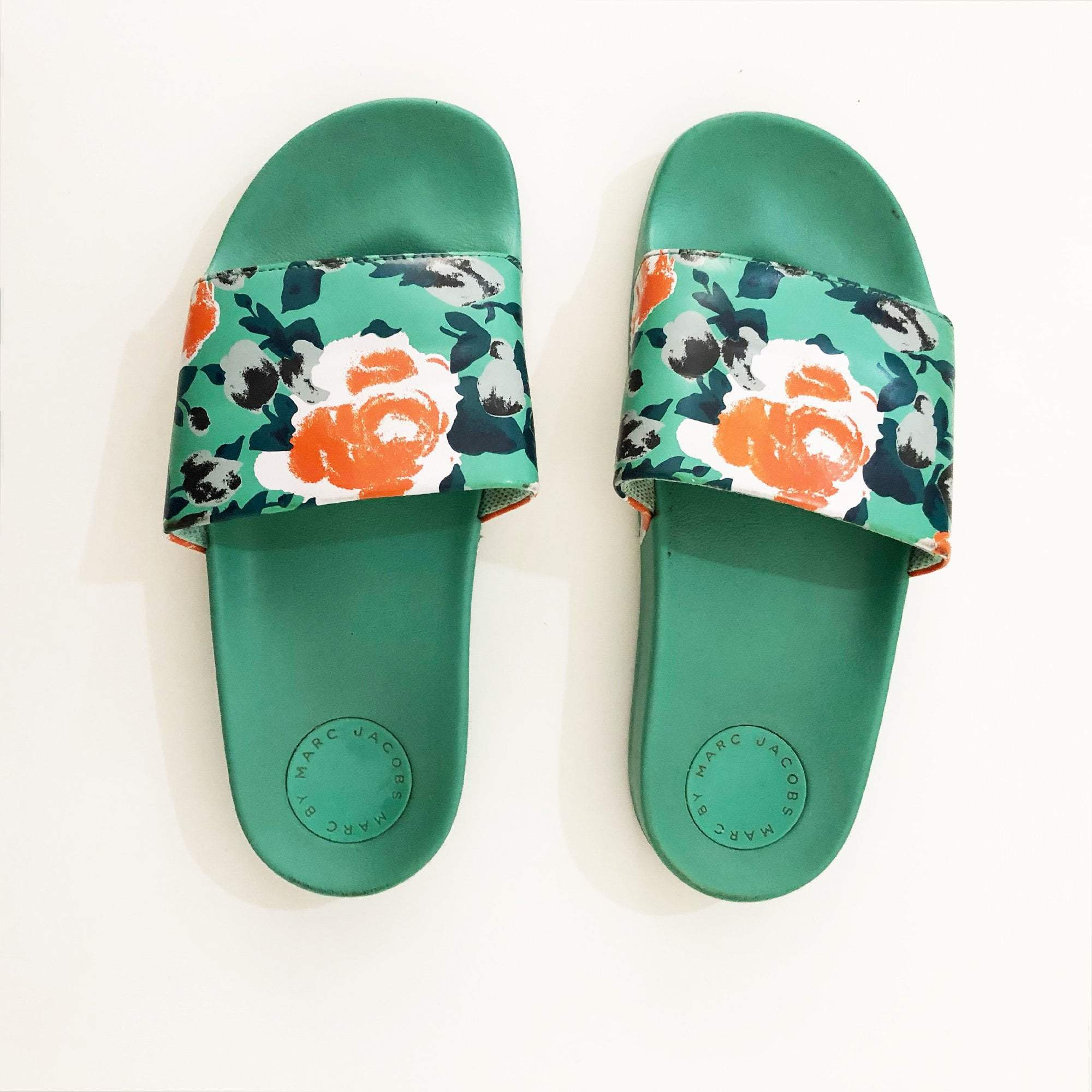 Marc Jacobs Floral-Print Slide Sandals