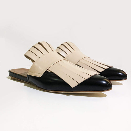 Marni Sabot Fringed Leather Slides