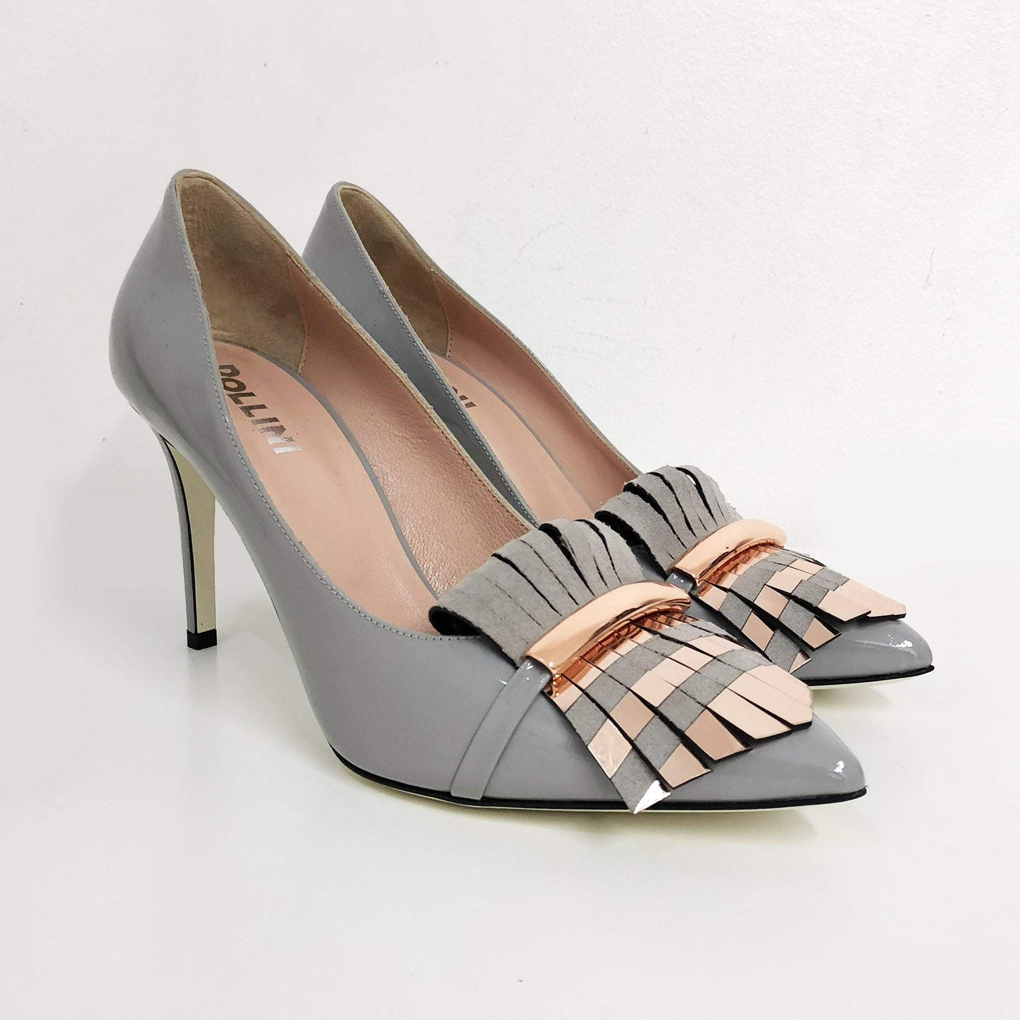 Pollini Fringed Pointed Toe Pumps