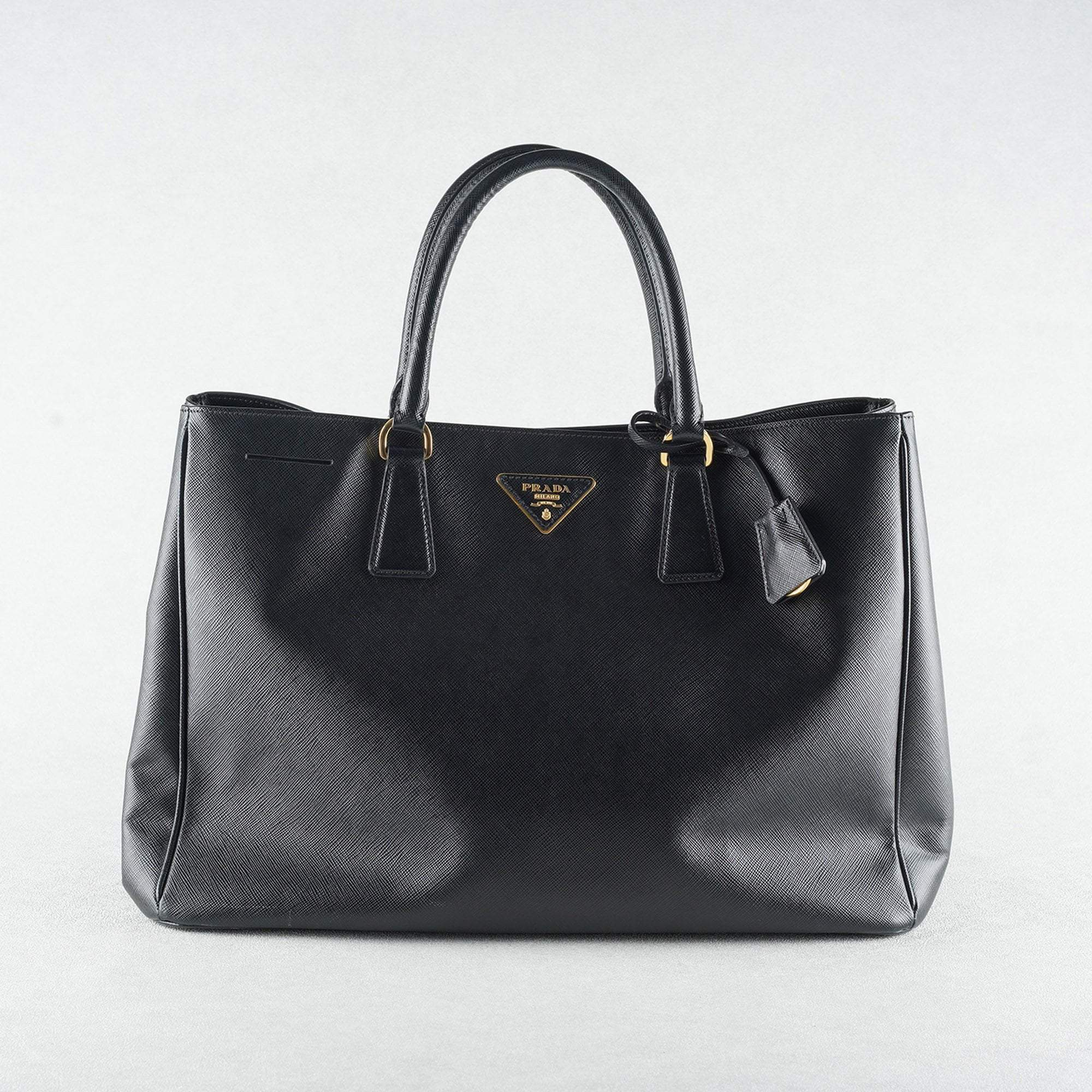 83584f45c2d4 Prada Black Saffiano Lux Leather Large Tote – Garderobe