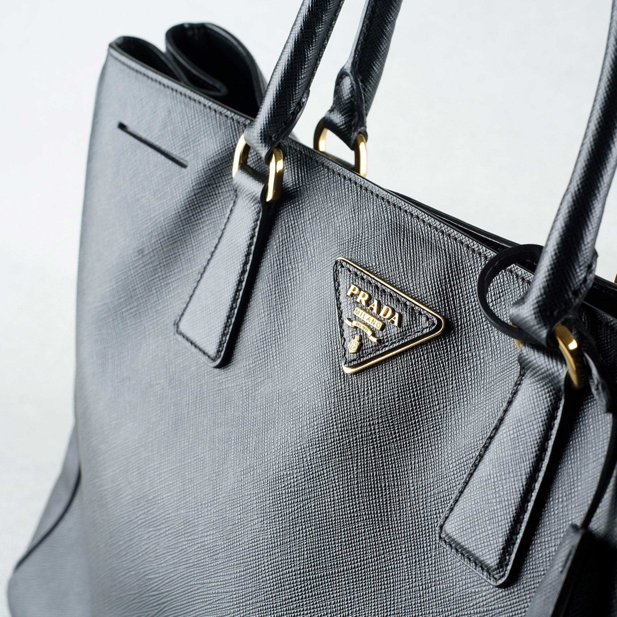 Prada Black Saffiano Lux Leather Large Tote