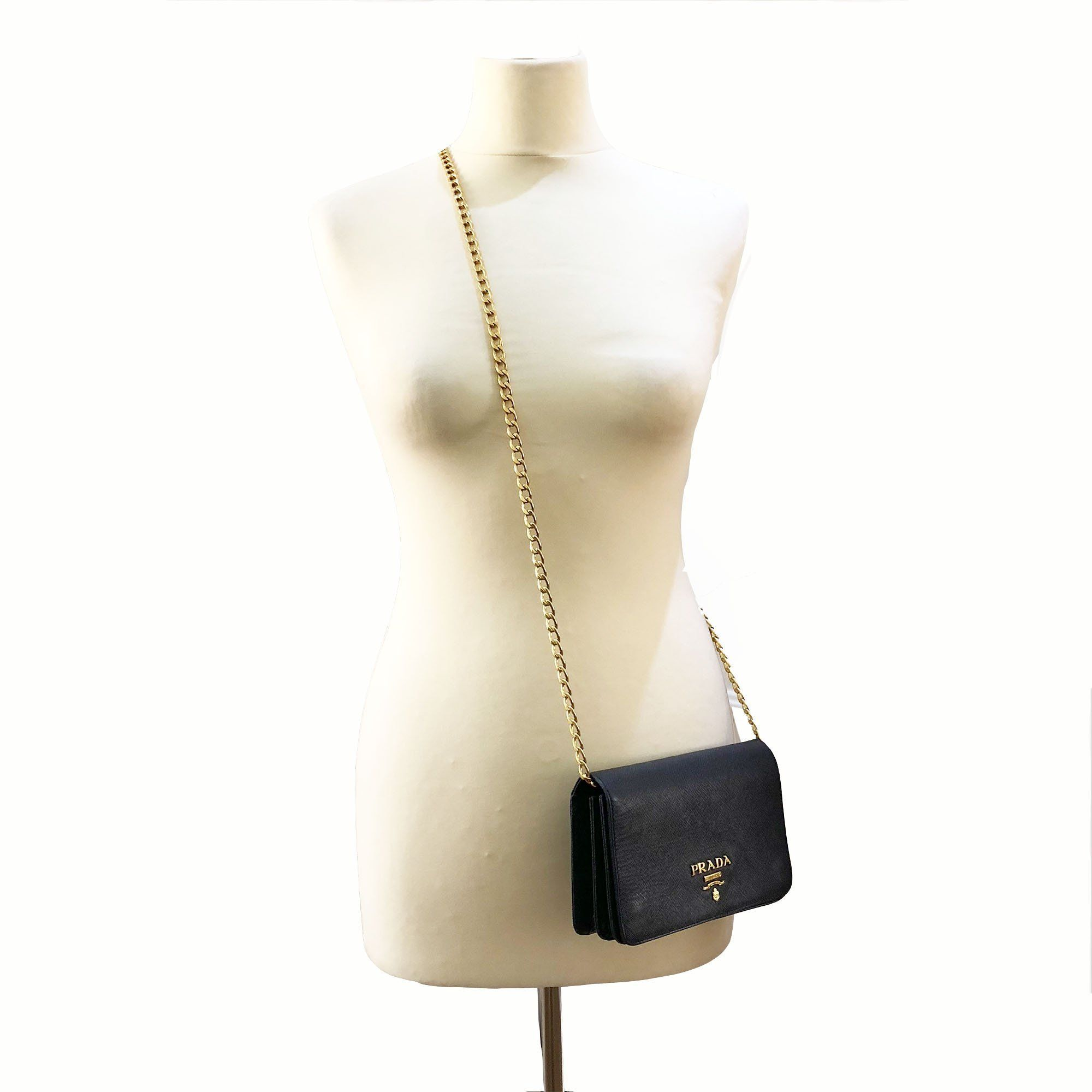 Prada Saffiano Black Cross Body Bag