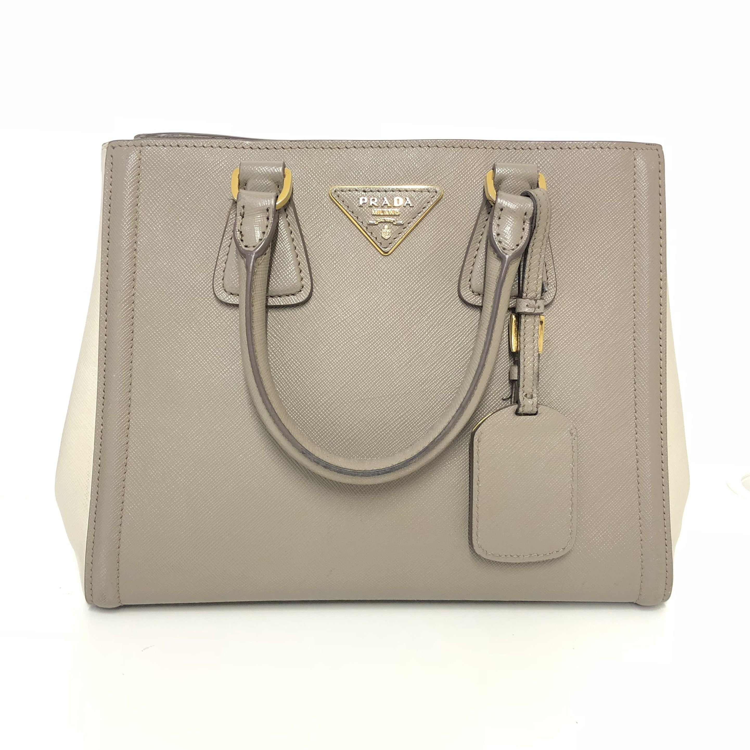 Prada Saffiano Lux Two-Tone Bag
