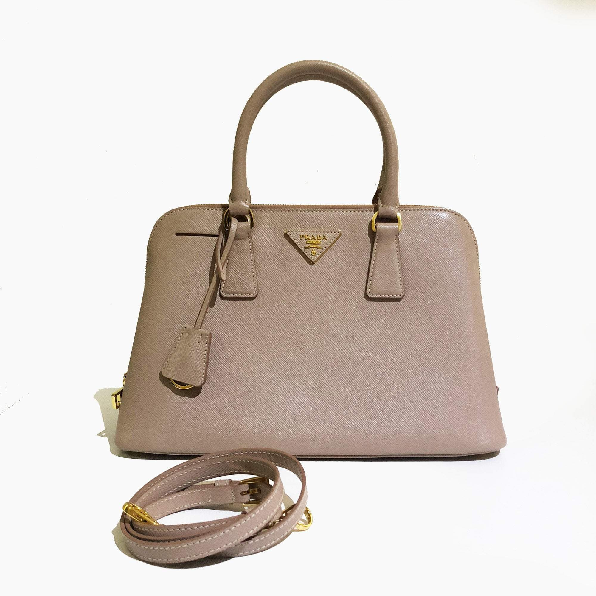 Prada Saffiano Medium Promenade Dusty Pink Bag