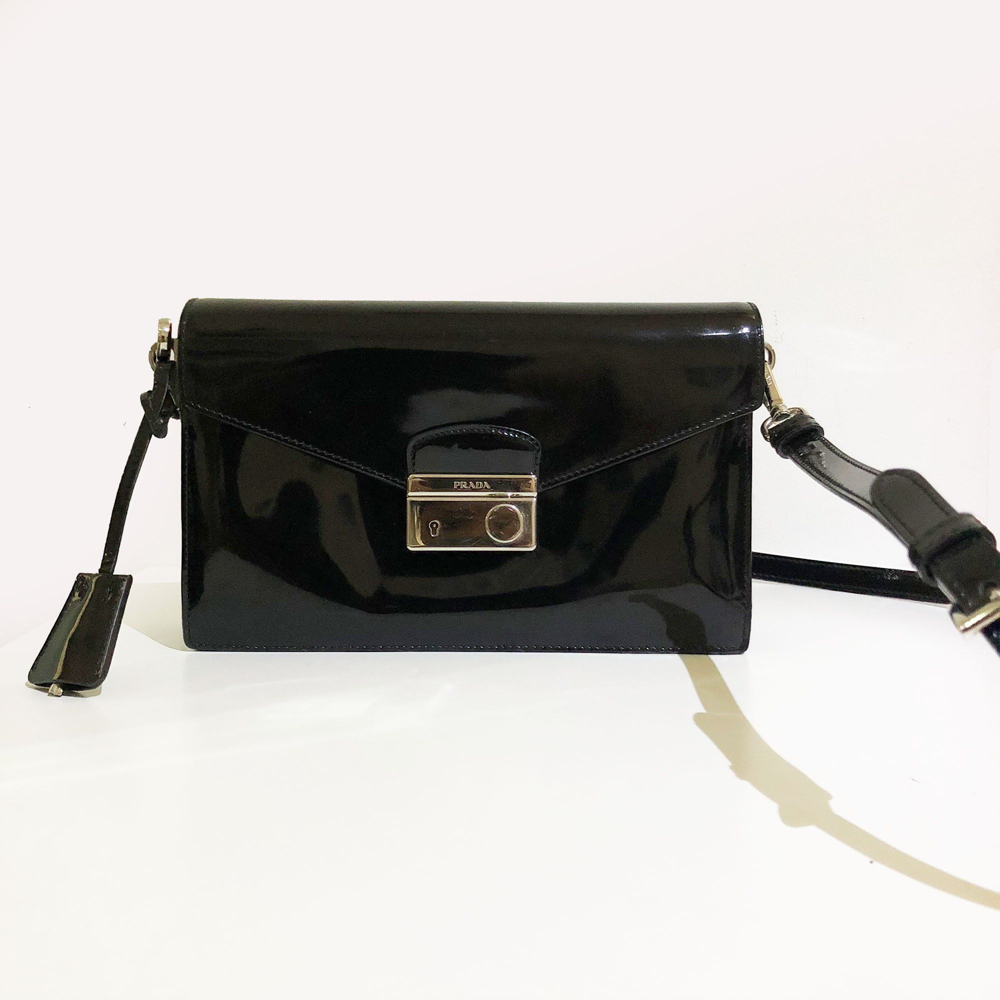 Prada Sound Bag Spazzolato Leather Bag