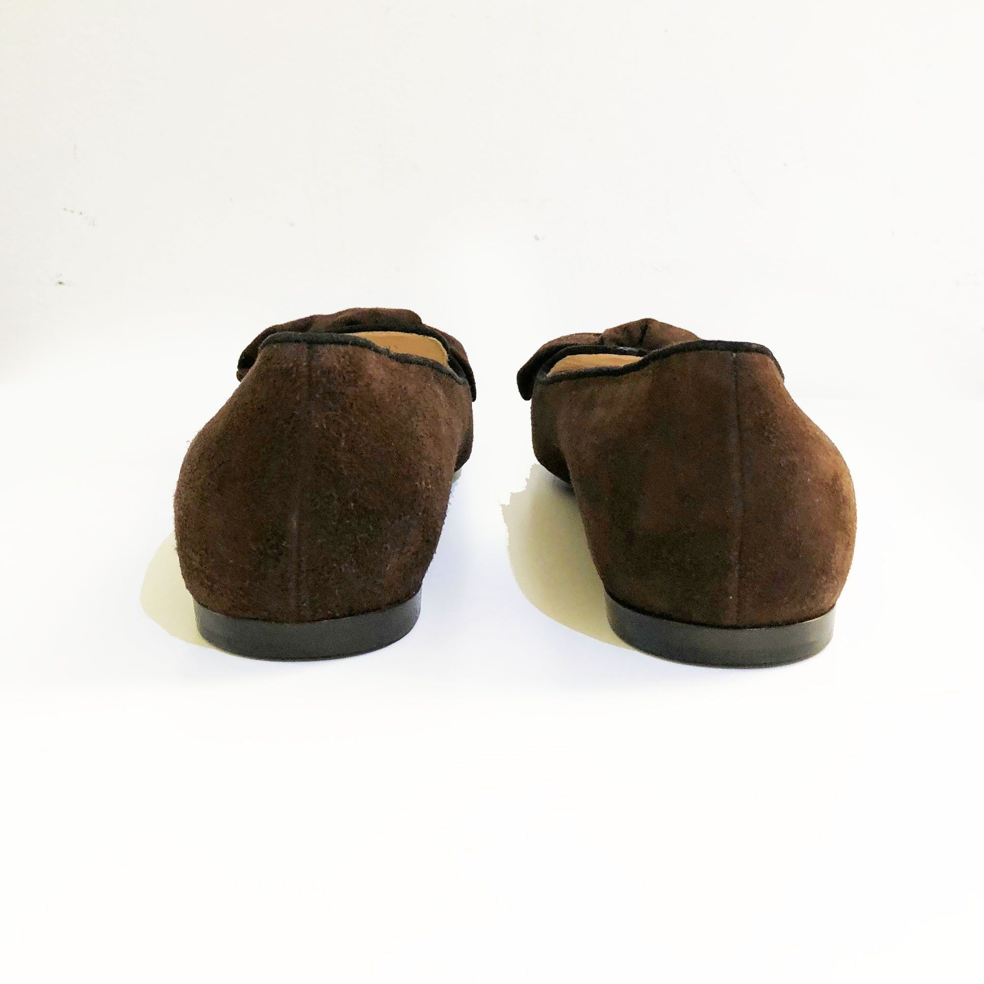 Prada Brown Suede Loafers