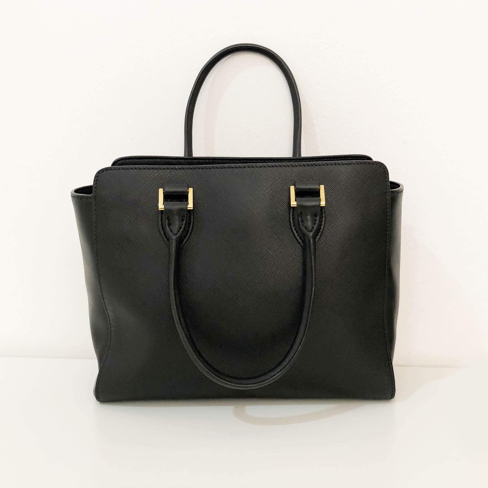 Prada Top Handle Leather Tote Bag