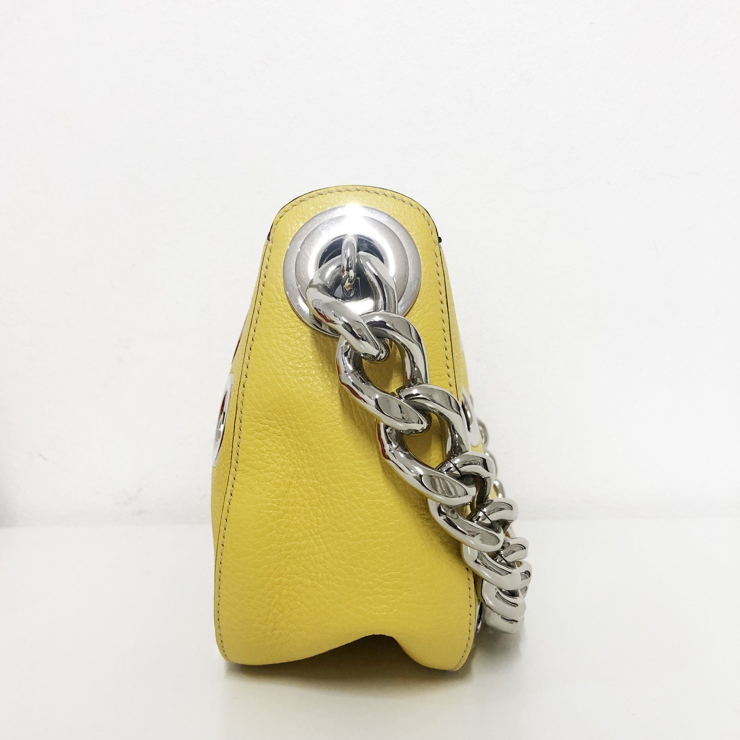 Prada Grommet Chain Hobo Vitello Daino Small Bag