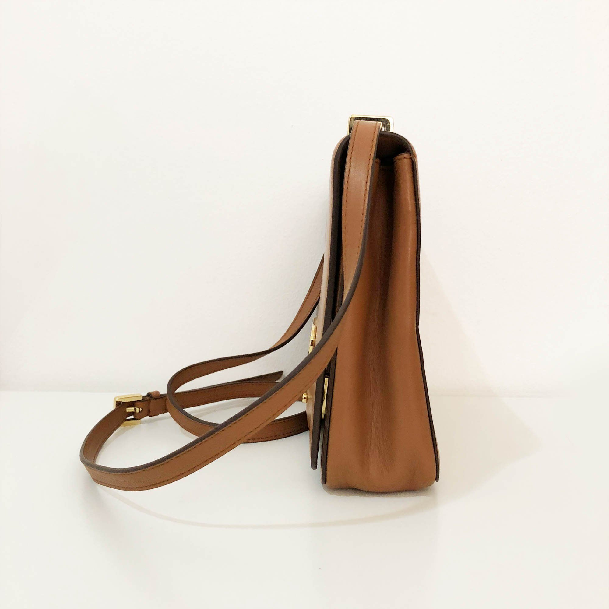 Ralph Laurent Brown Crossbody Flap Bag
