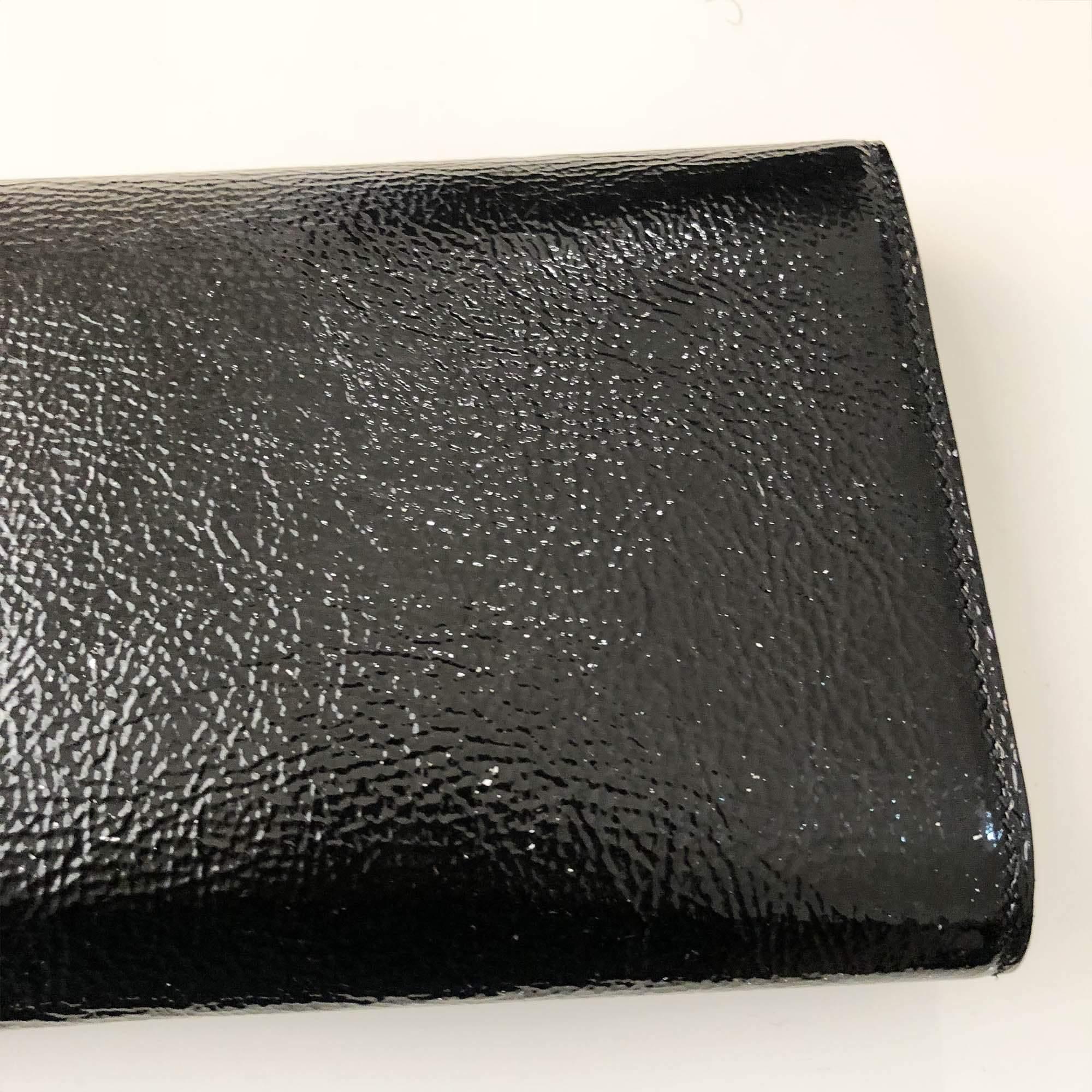Saint Laurent Black Patent Leather Clutch