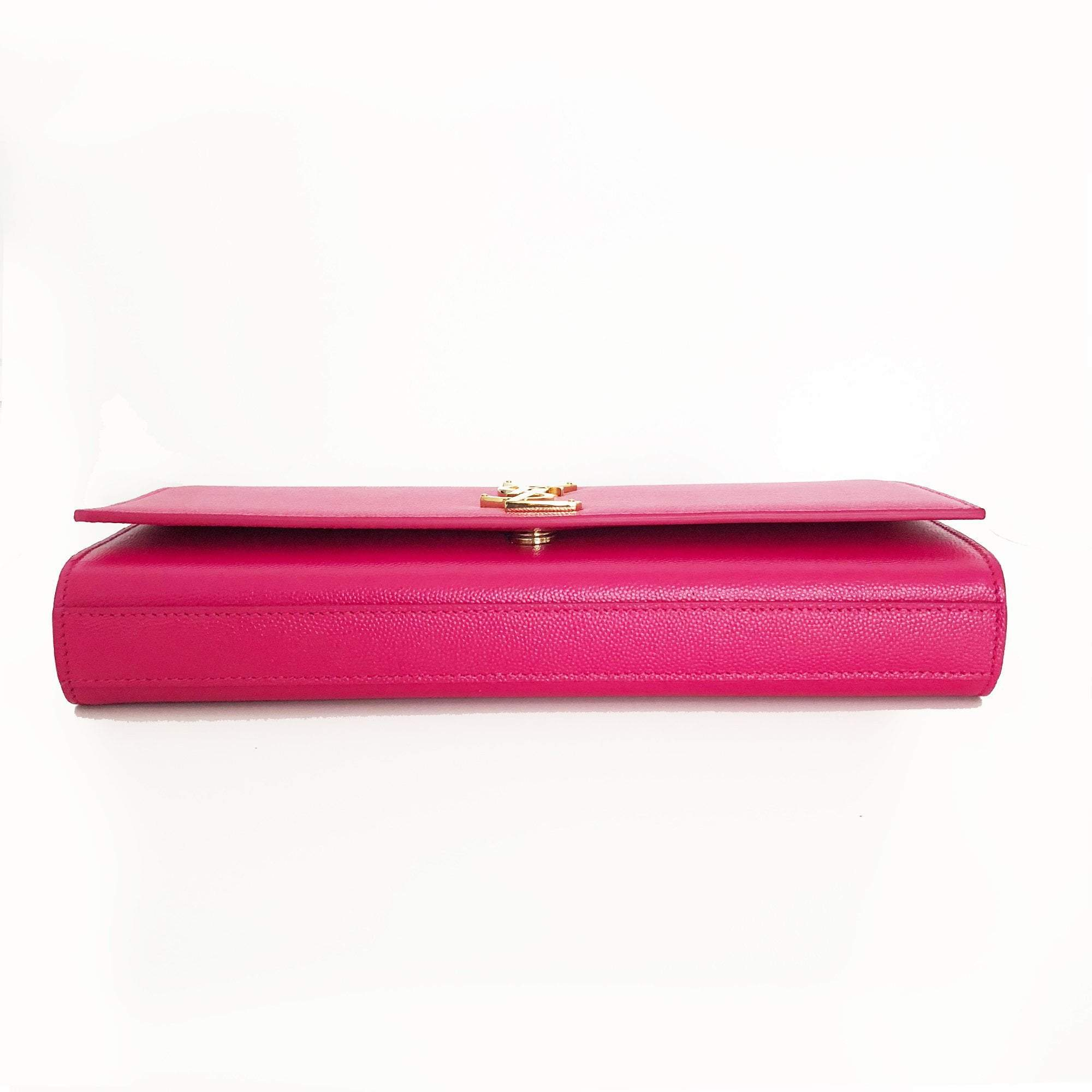 Yves Saint Laurent  Pink Cassandre leather clutch