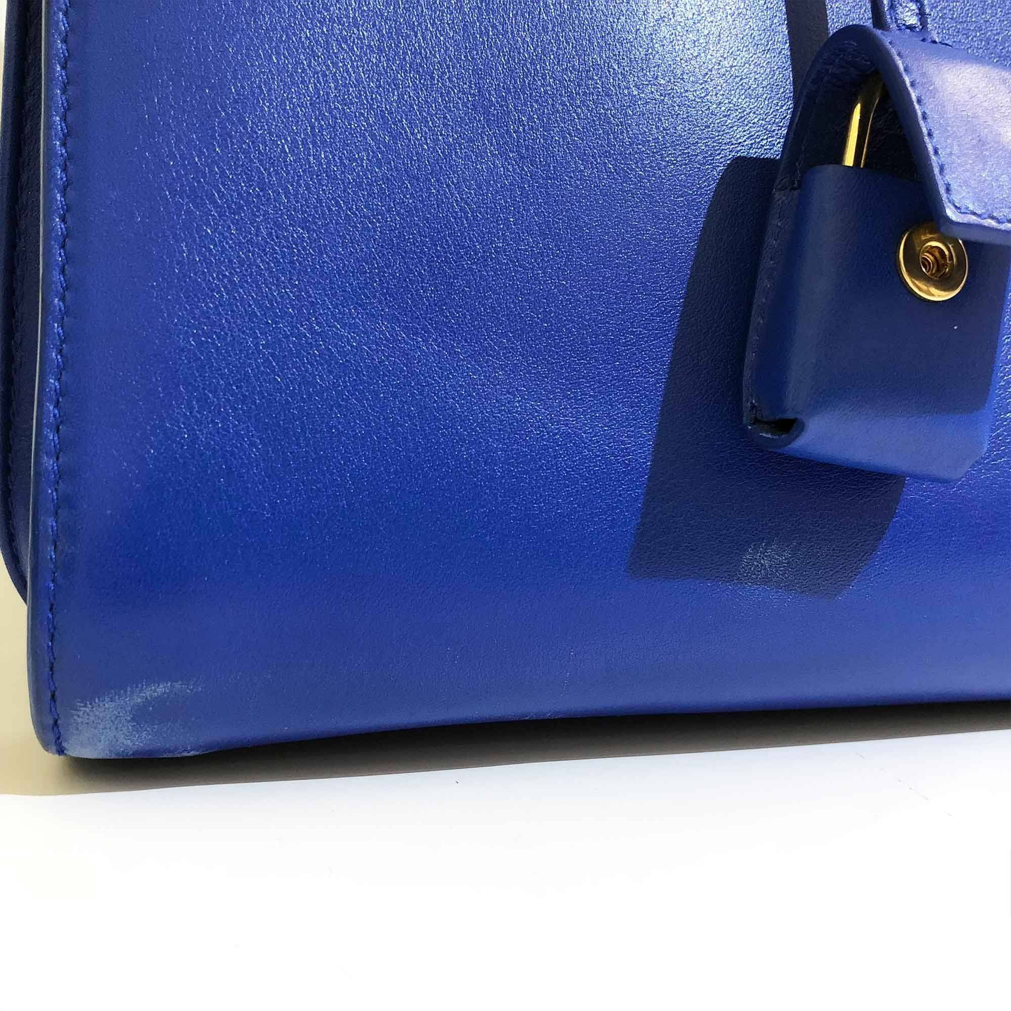 Saint Laurent Blue Sac de Jour