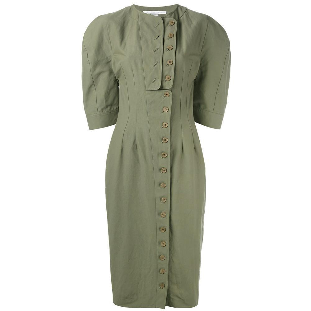 Stella McCartney Oversized Sleeve Fitted Dress