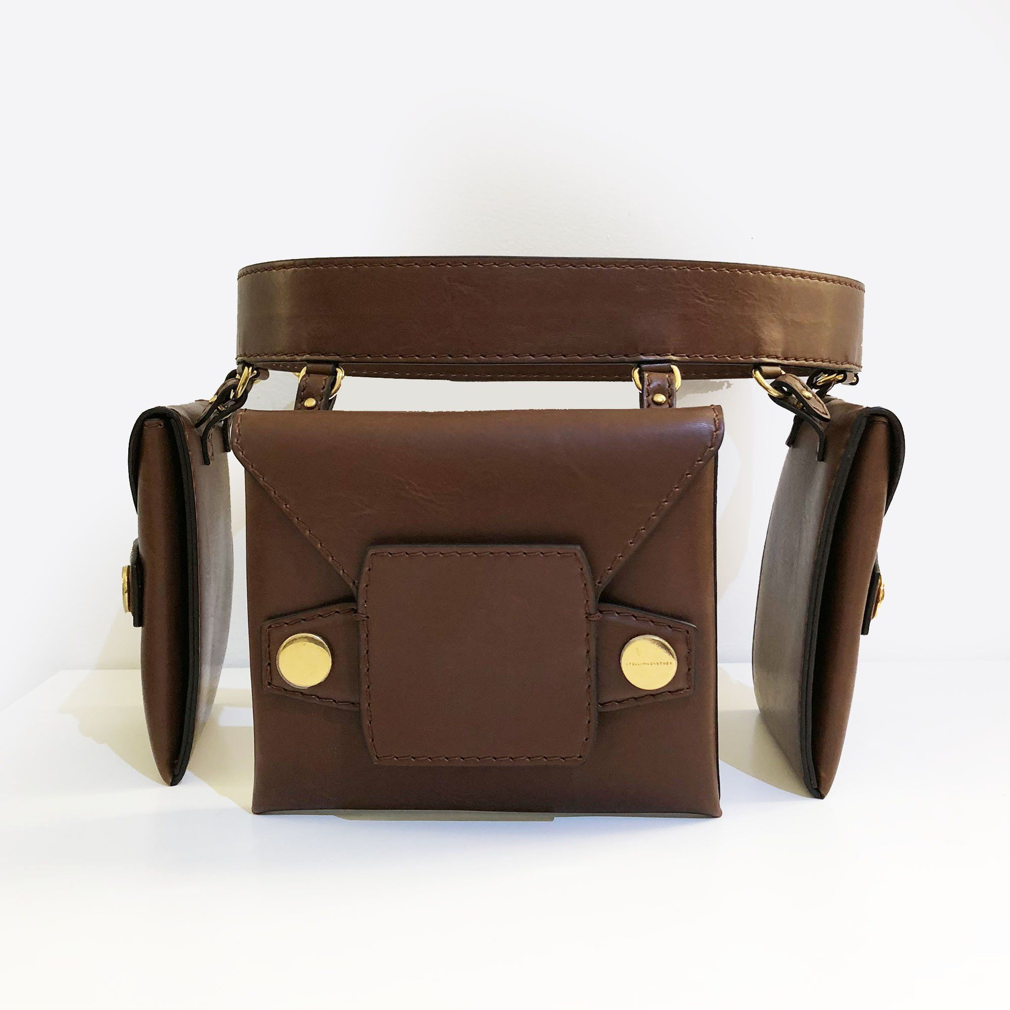Stella McCartney Faux-Leather Trio Belt Bag