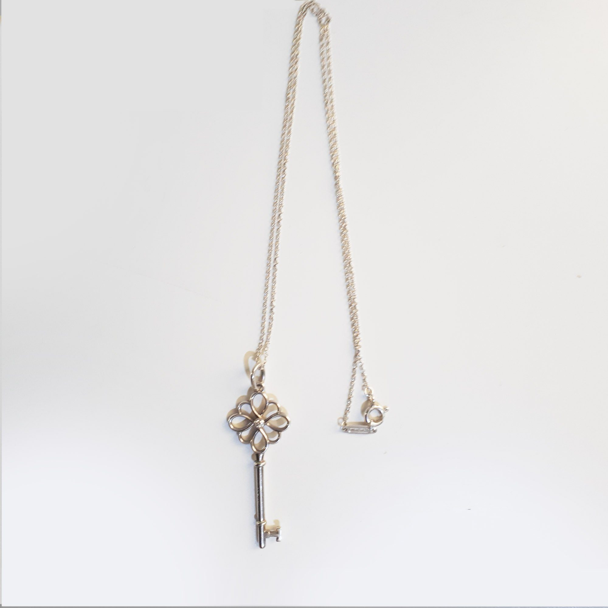 Tiffany & Co. Open Knot Key Pendant And Chain